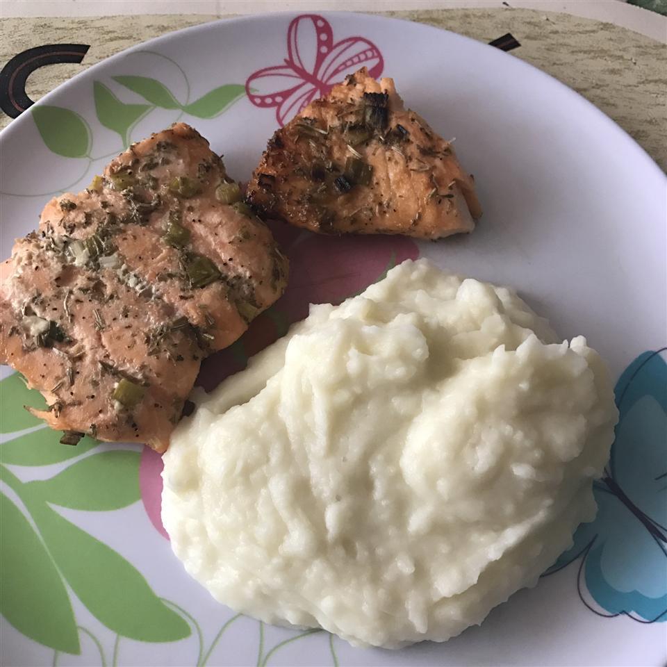 Grilled Salmon Princesa