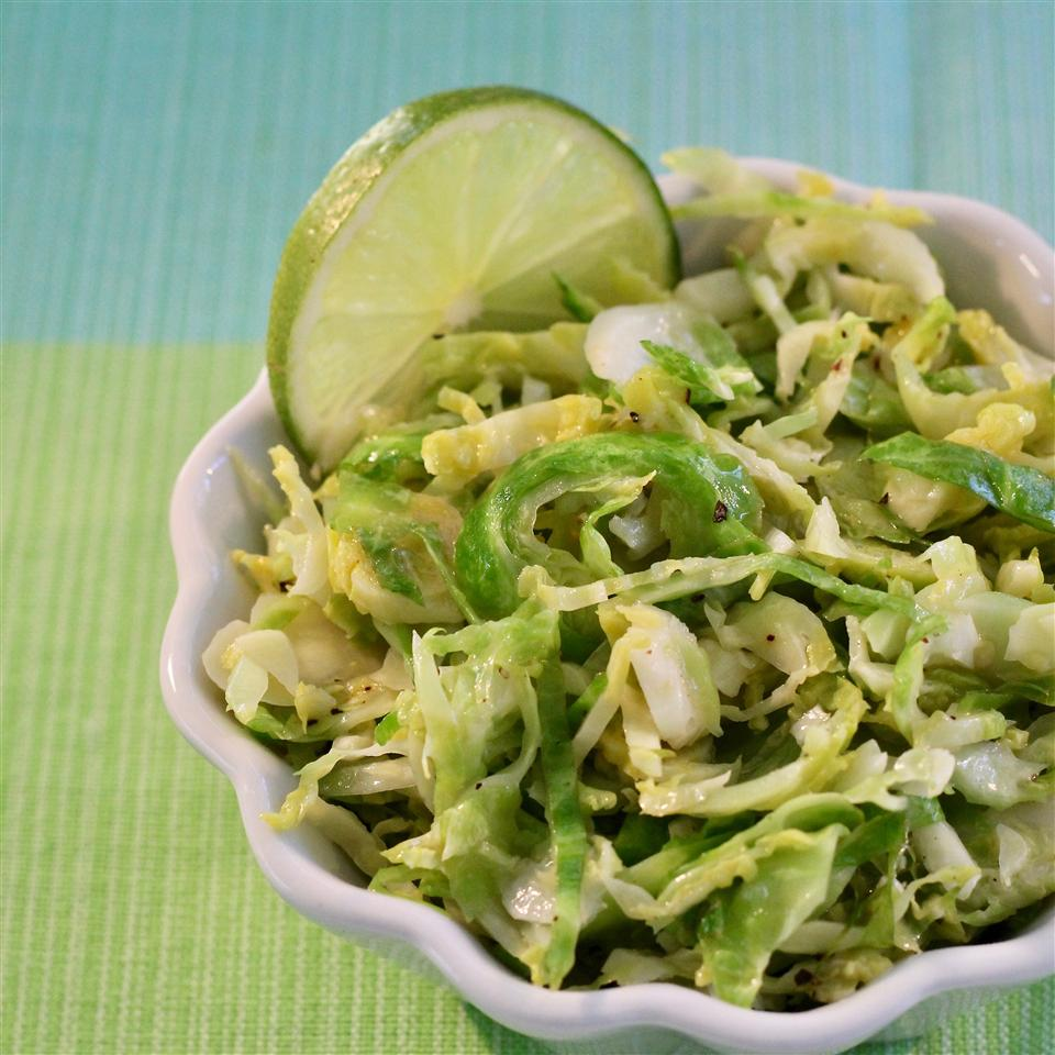 Easy Lime Shredded Brussels Sprouts mommyluvs2cook
