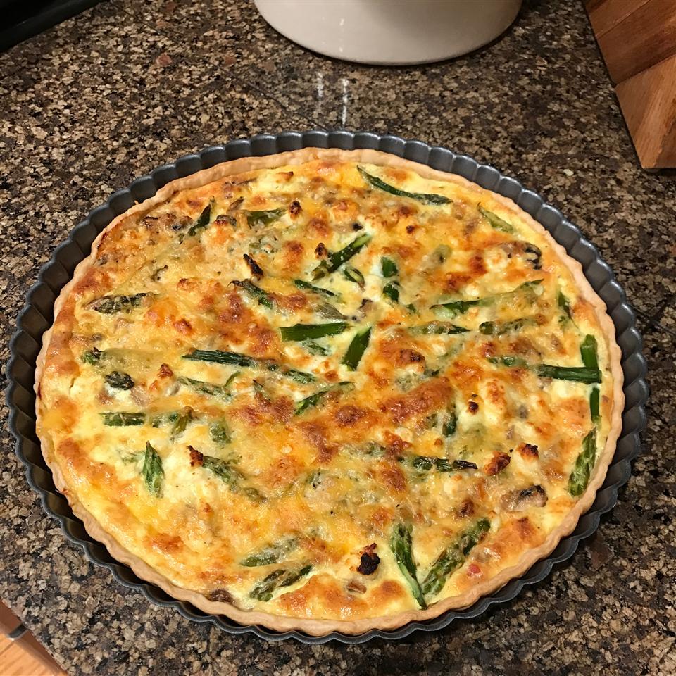 Asparagus and Mushroom Quiche steph wieborg