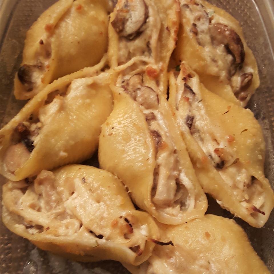 Chicken-Stuffed Shells with Sherry Sauce Sherrie Perez