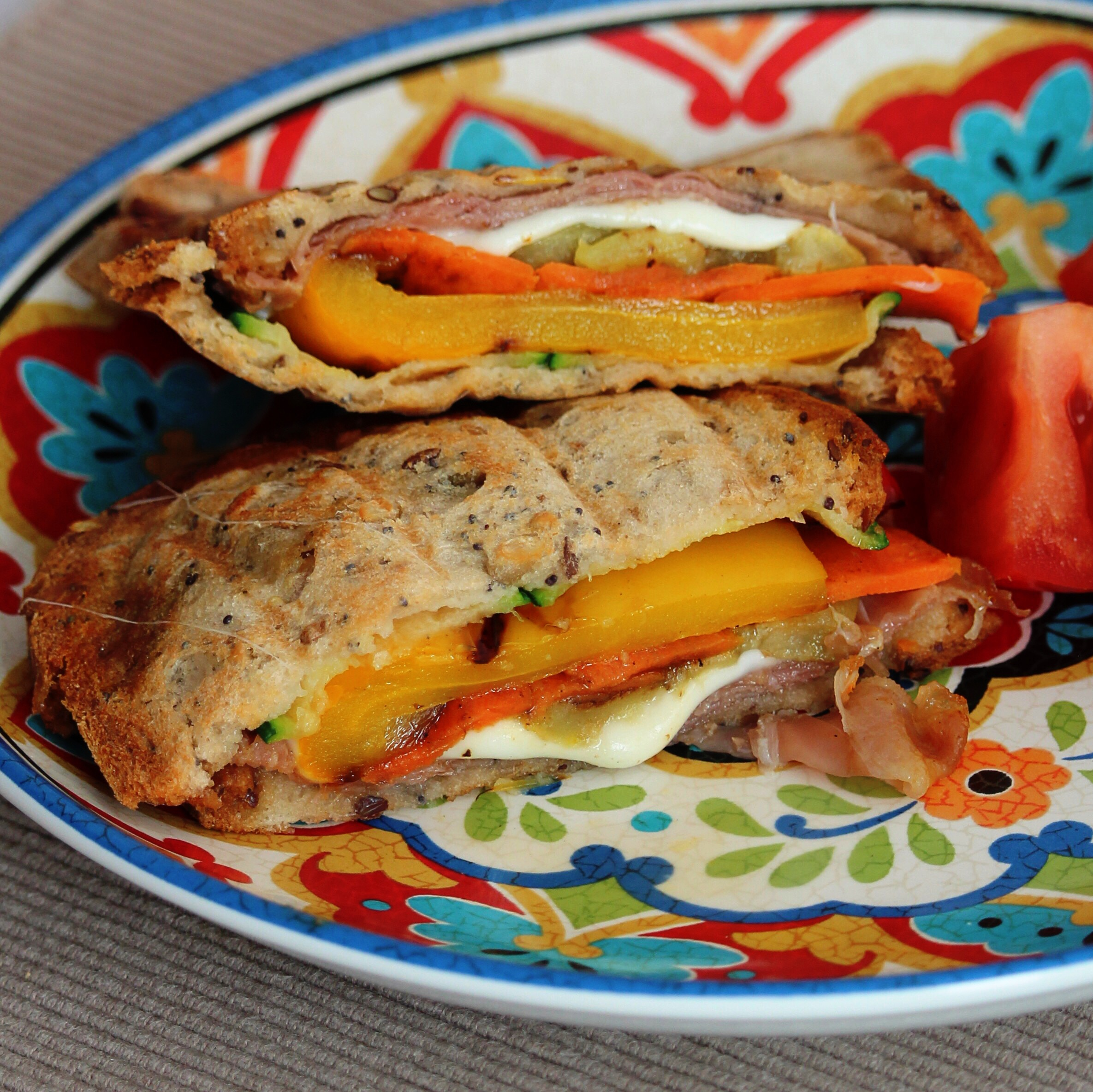 Roasted Vegetable Panini Bites Buckwheat Queen