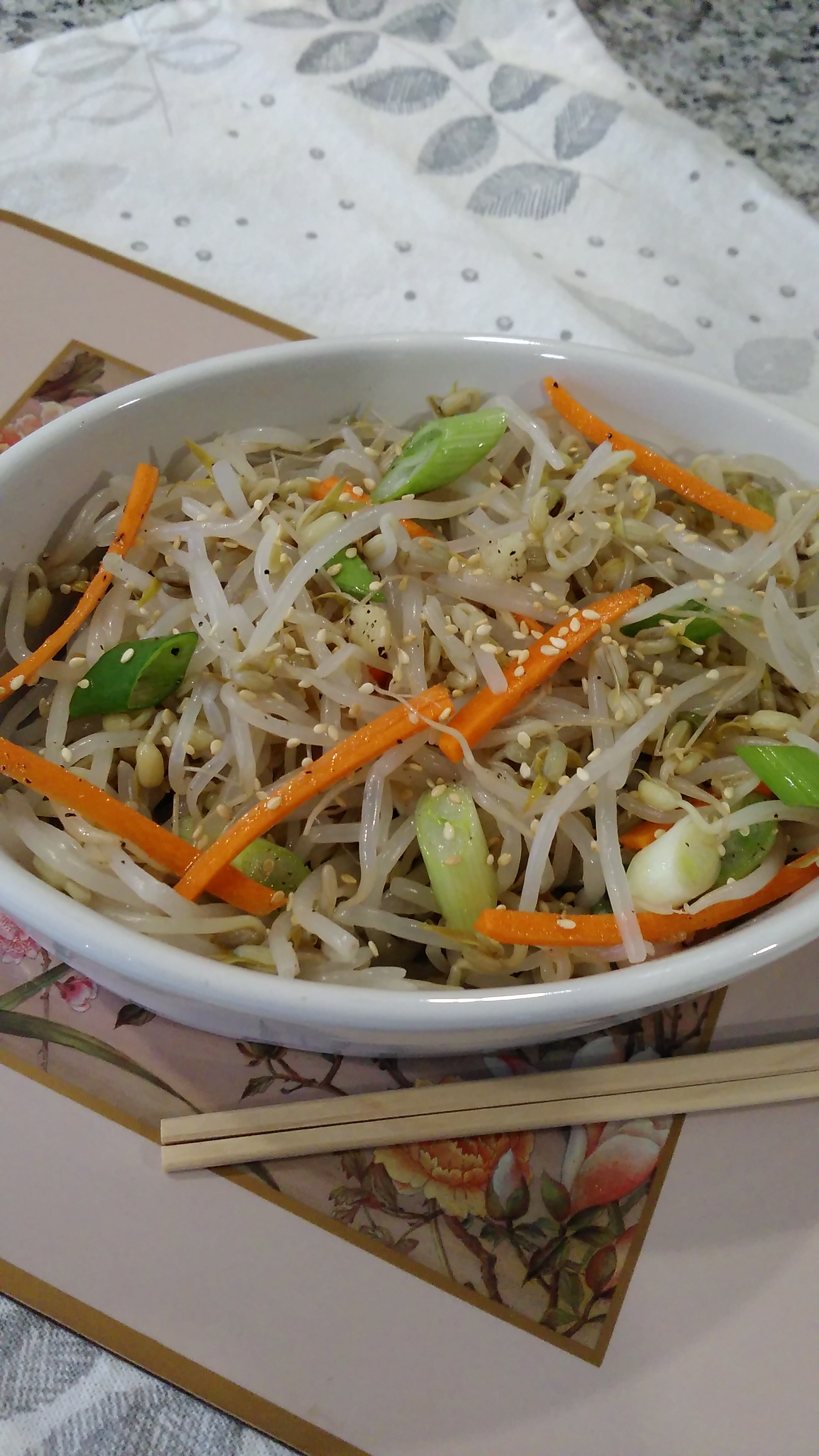 Sukju Namul (Mung Bean Sprout Salad) image