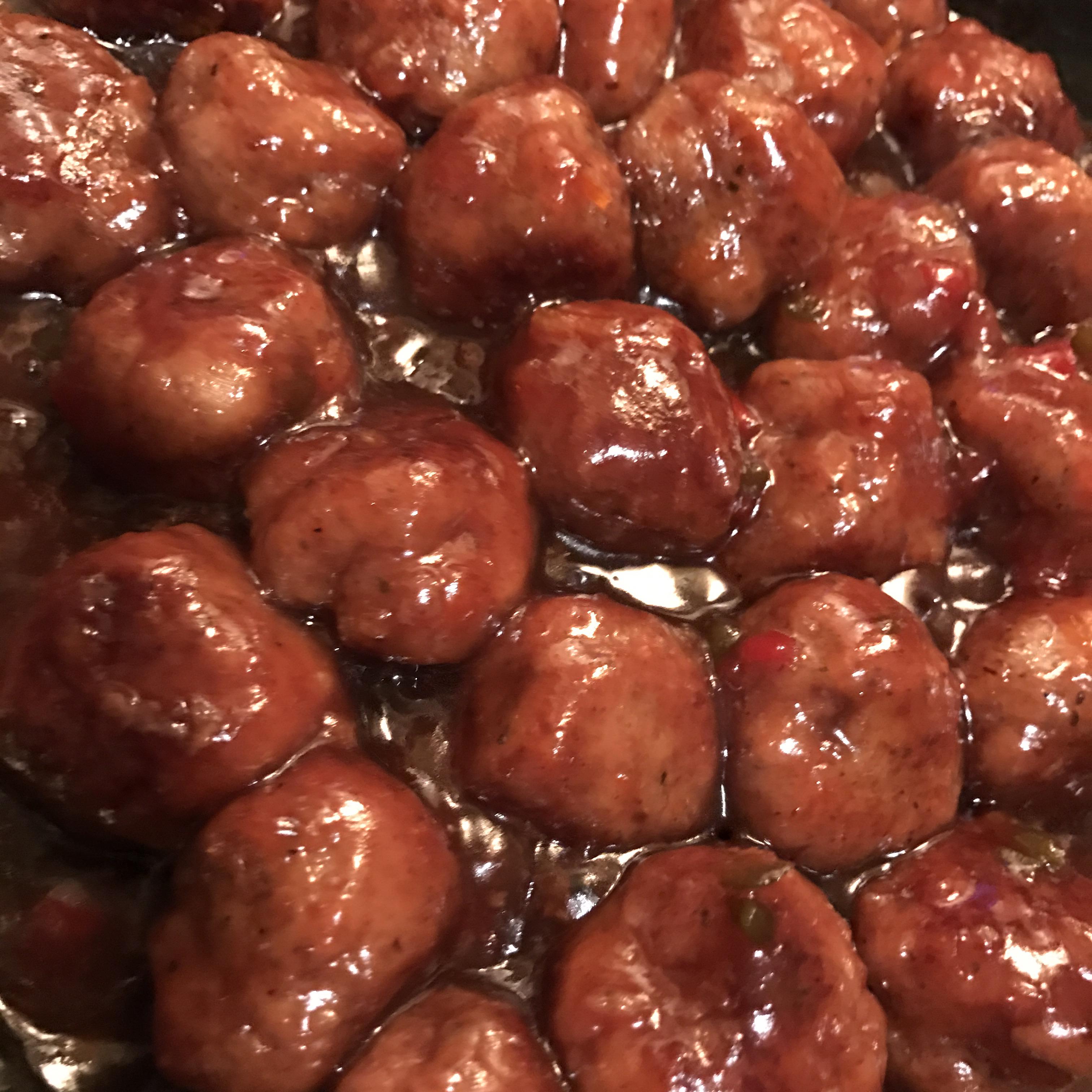 Turkey Cocktail Meatballs with Orange Cranberry Glaze