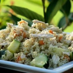 Quinoa Pilaf with Shredded Chicken mominml