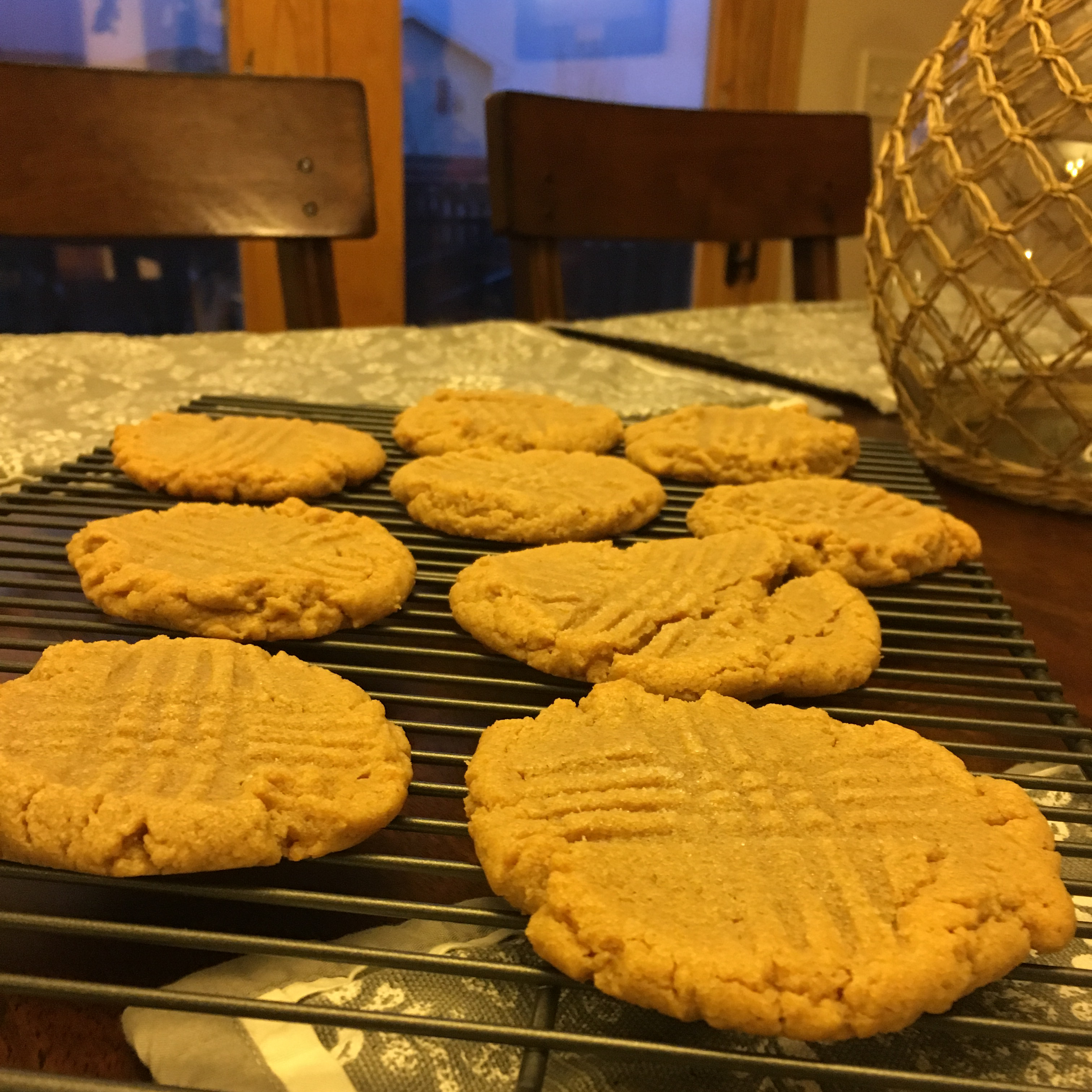 Three Ingredient Peanut Butter Cookies HungryHusband