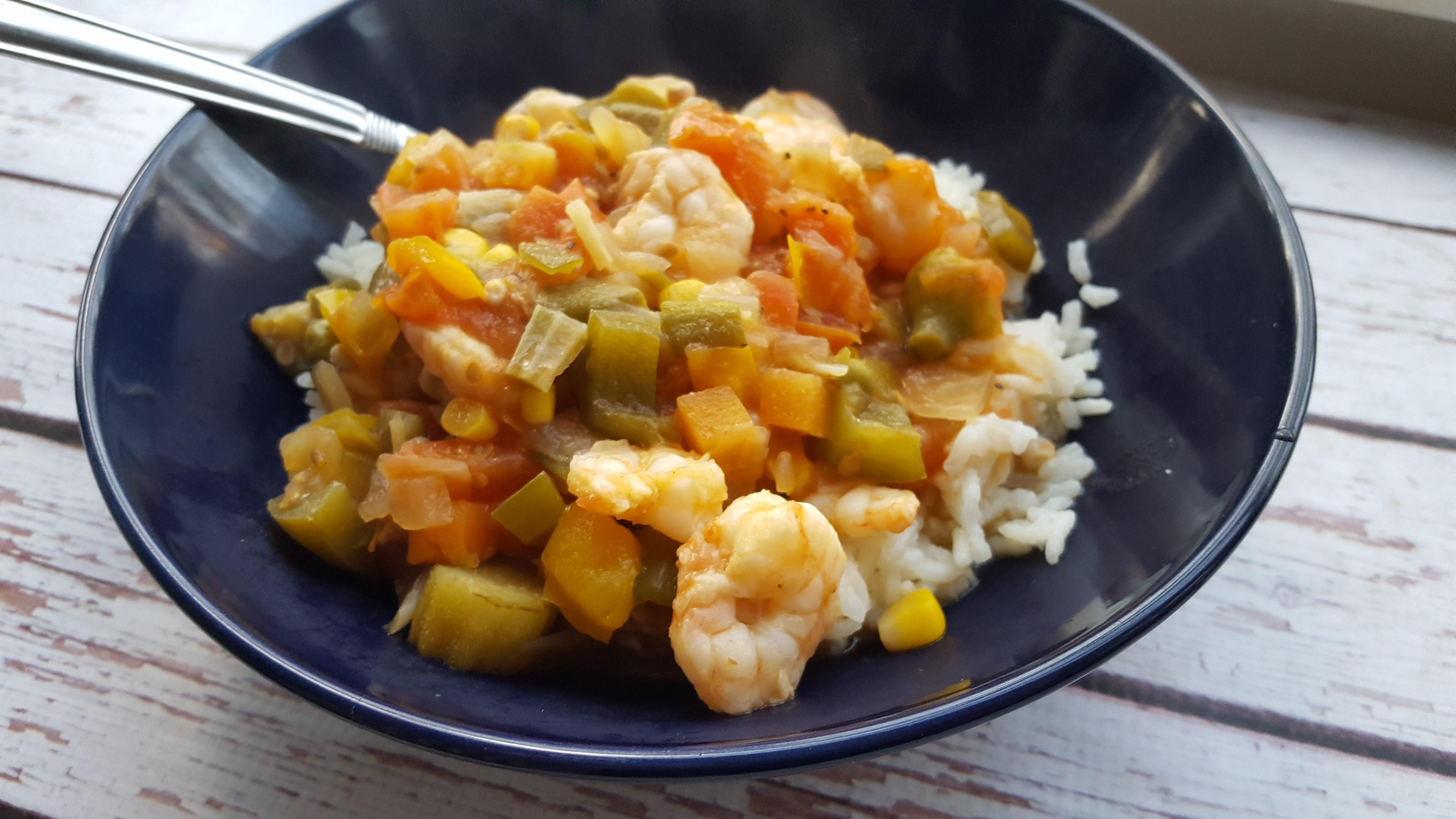 Okra Stew with Shrimp Rebekah Rose Hills