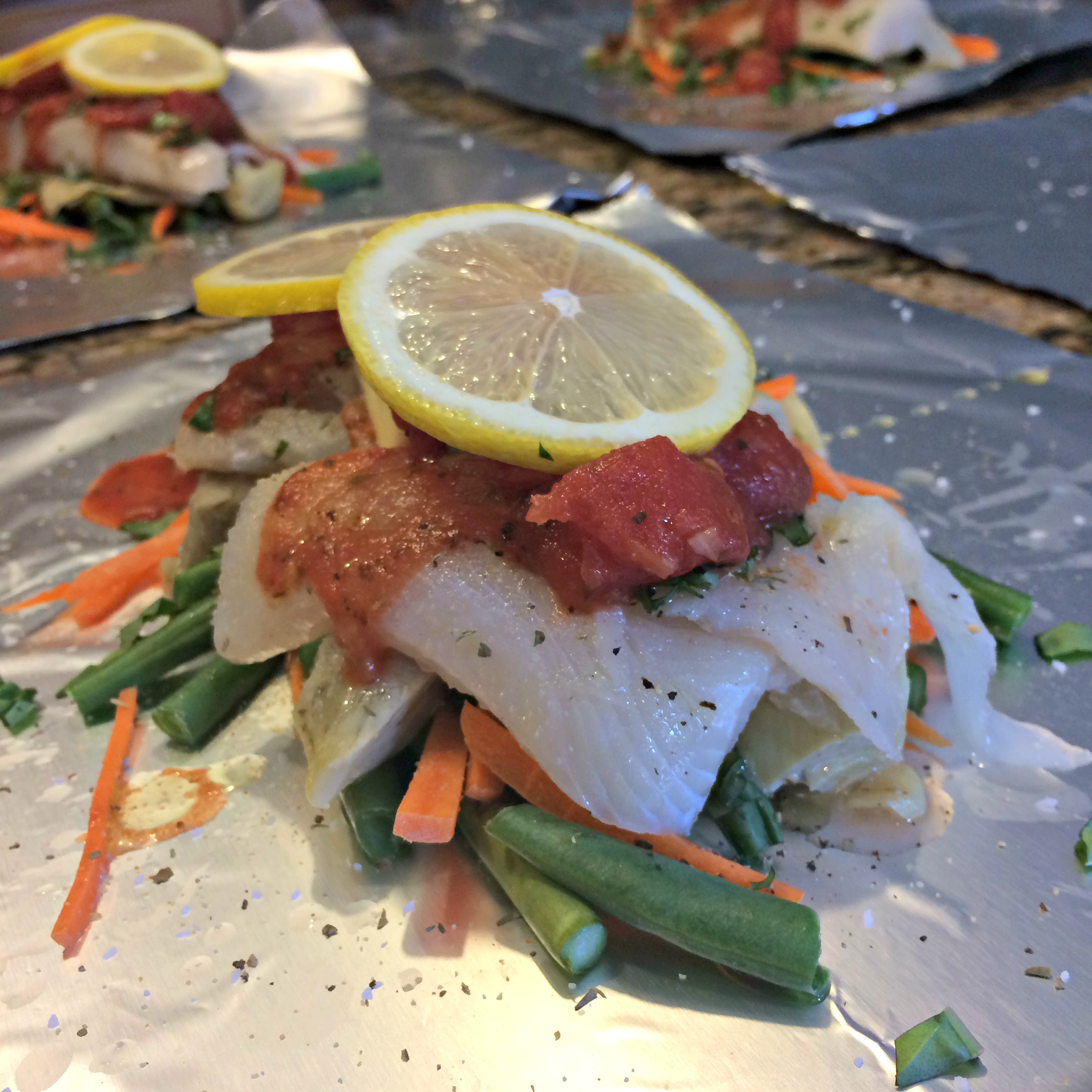 Red Lobster® Oven-Roasted Tilapia with Vegetables Kim's Cooking Now