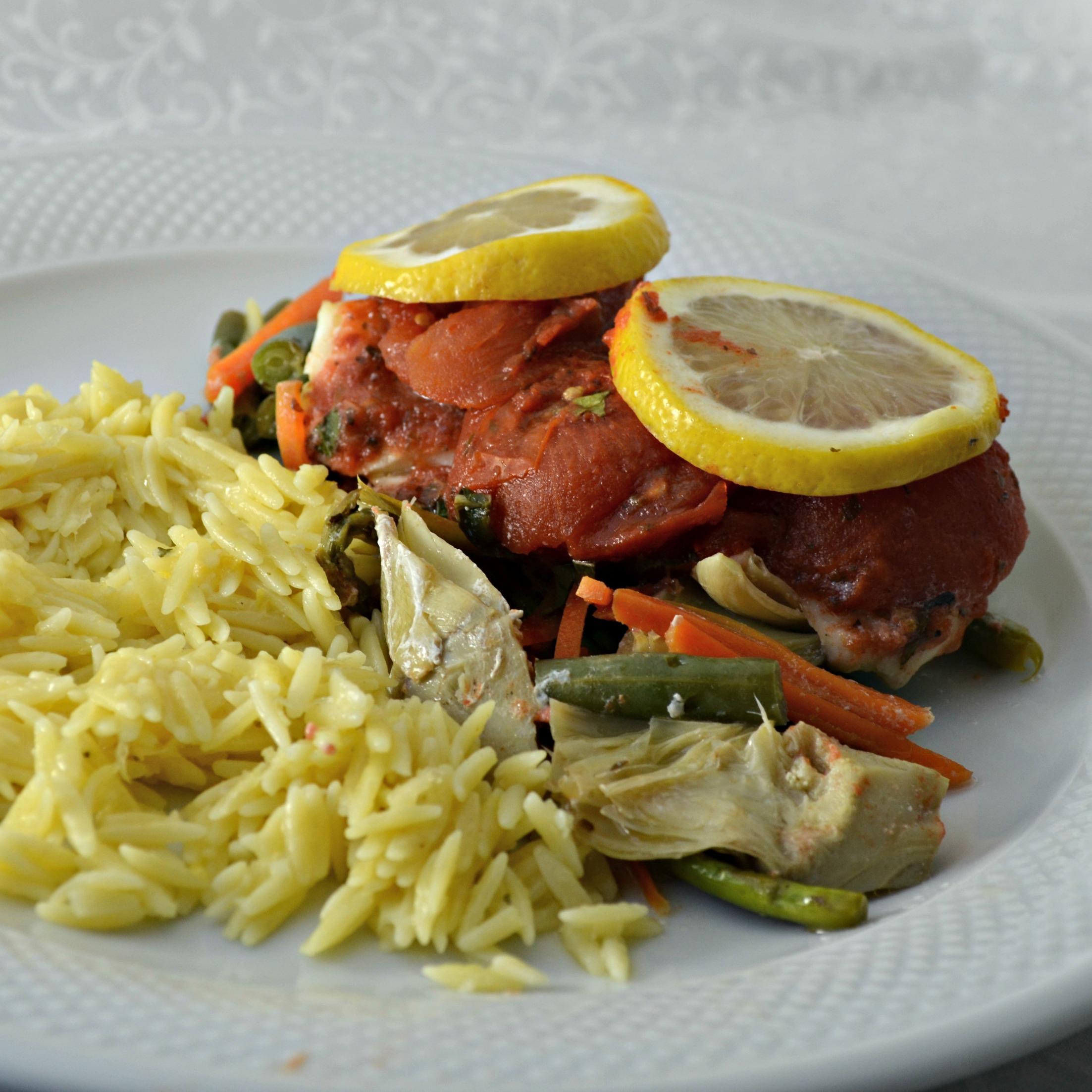 Red Lobster® Oven-Roasted Tilapia with Vegetables
