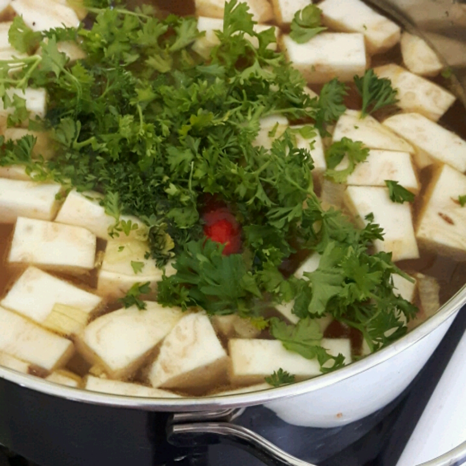 Creamy German Potato Soup - Kartoffelsuppe