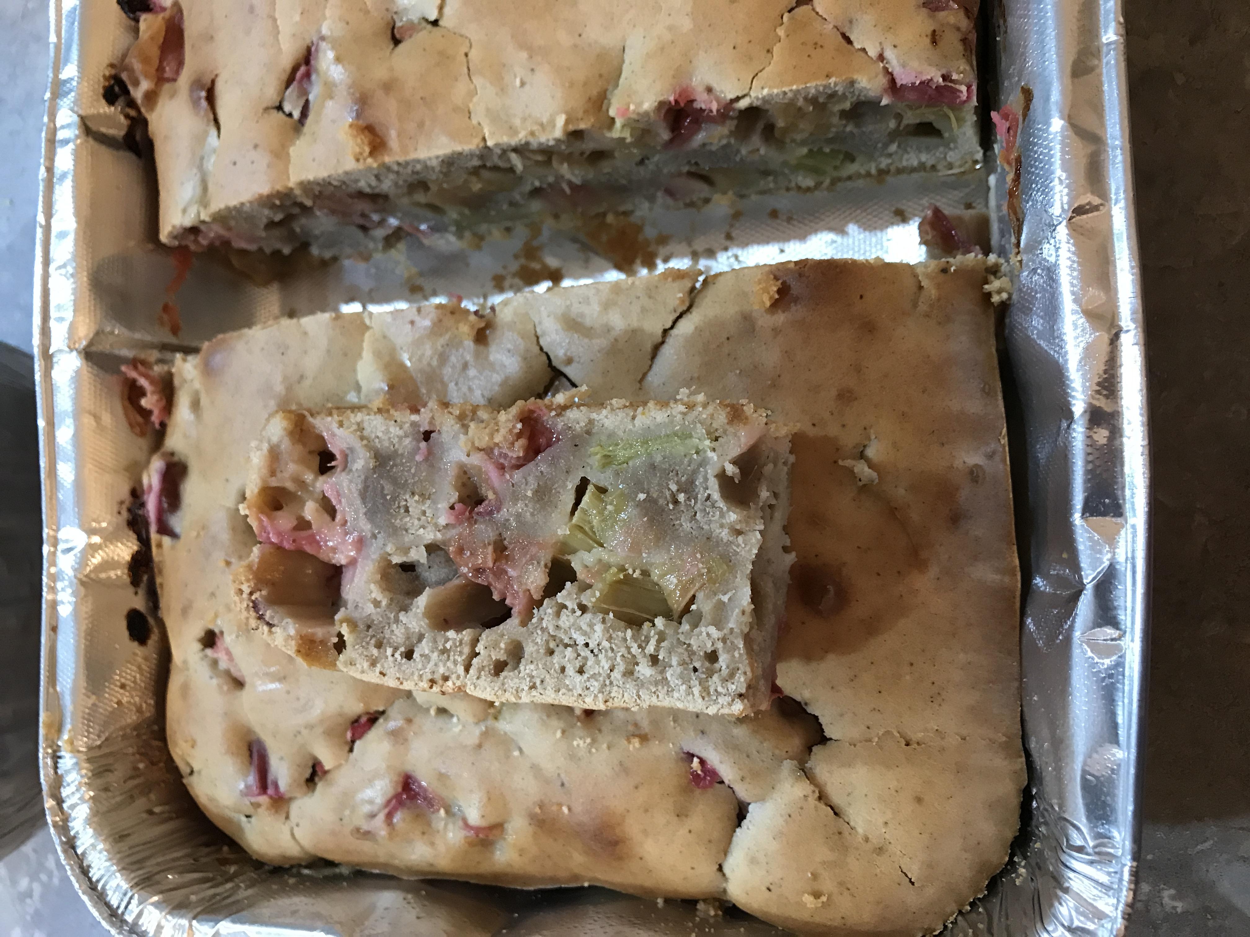 Rhubarb Spice Cake with Lemon Sauce Christel Webb