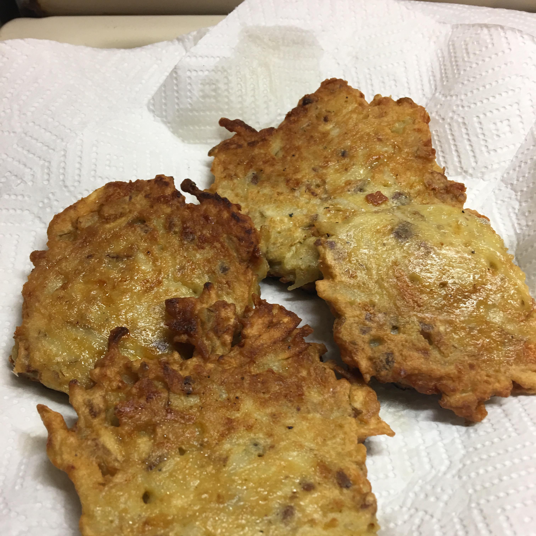 Cheesy Potato Pancakes Mae Mae