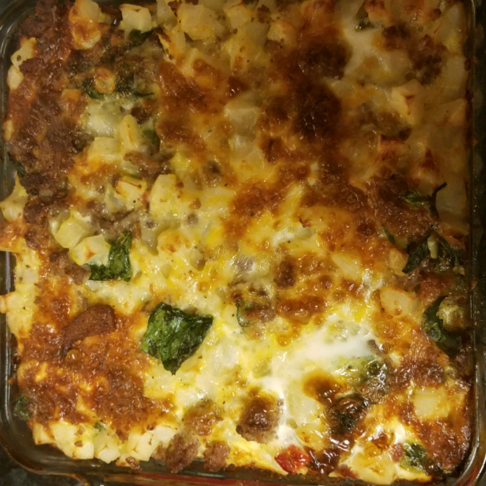 Sausage Hash Brown Breakfast Casserole luna19871