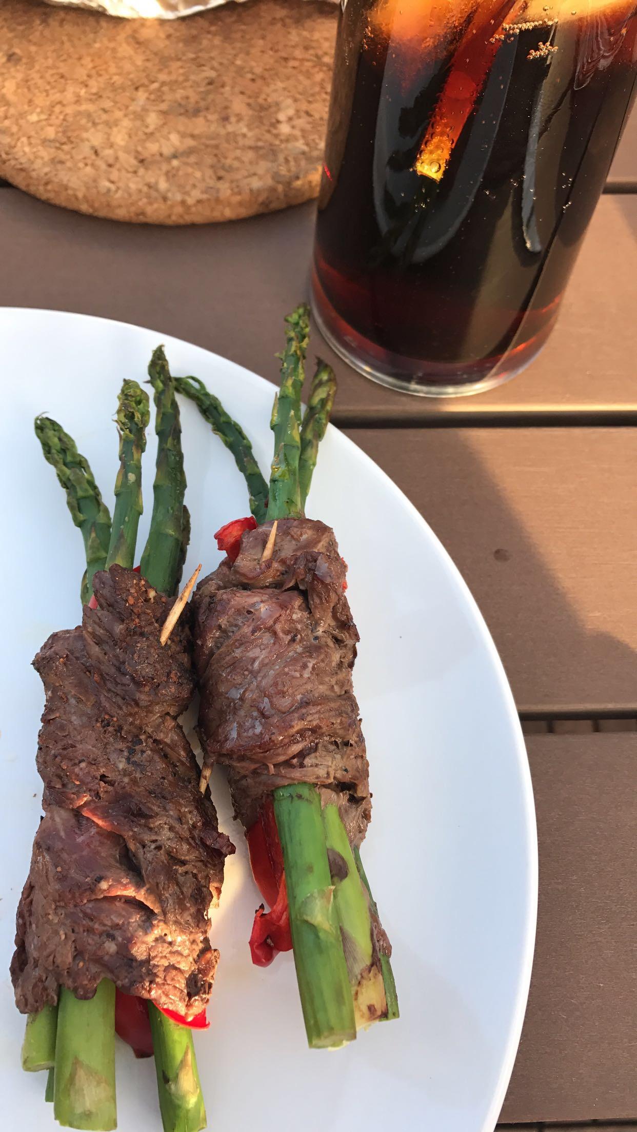 Grilled Asparagus Steak Bundles FrackFamily5 CA—>CT