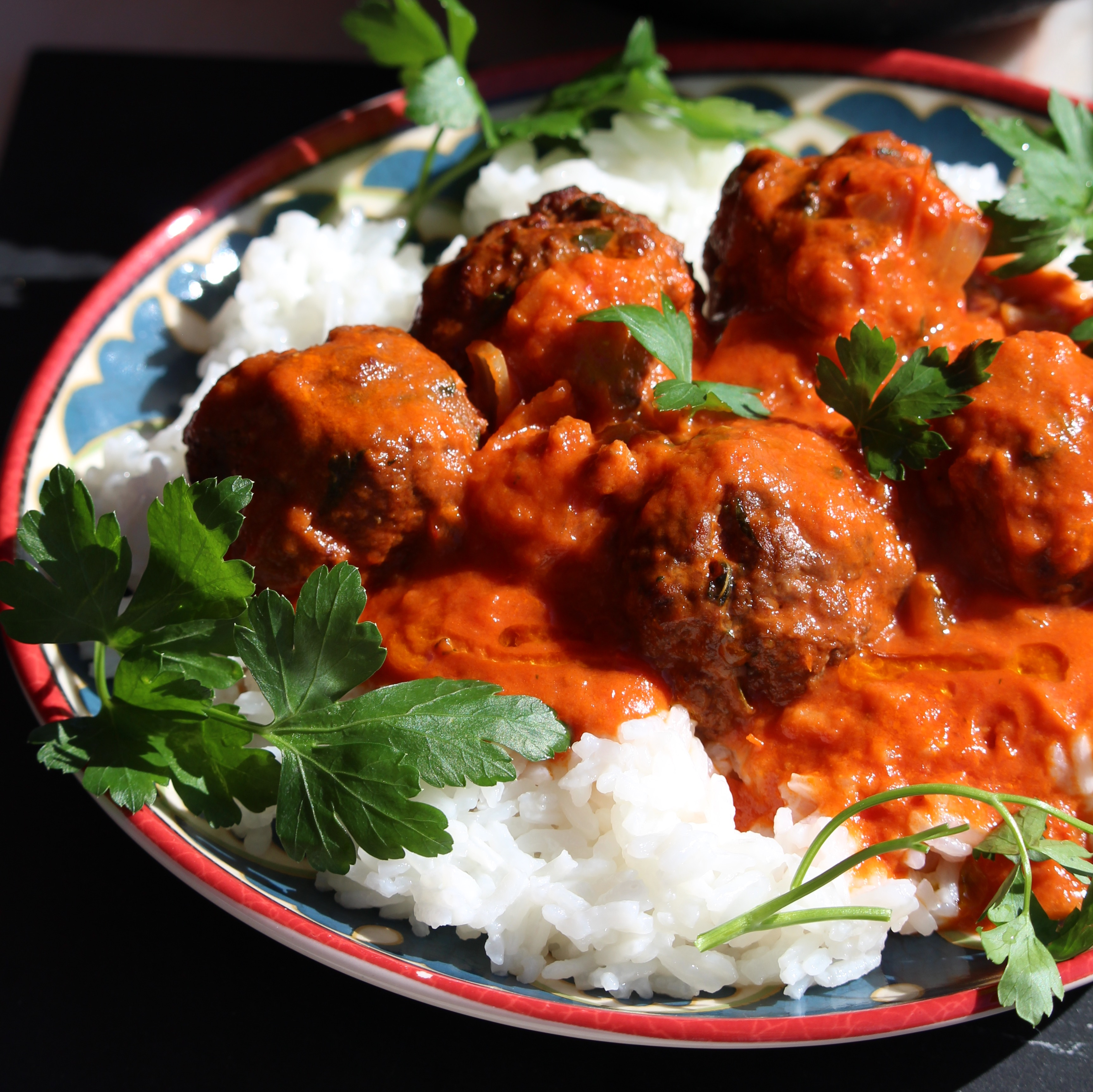 Thai Meatballs in a Tomato Coconut Curry Sauce Buckwheat Queen