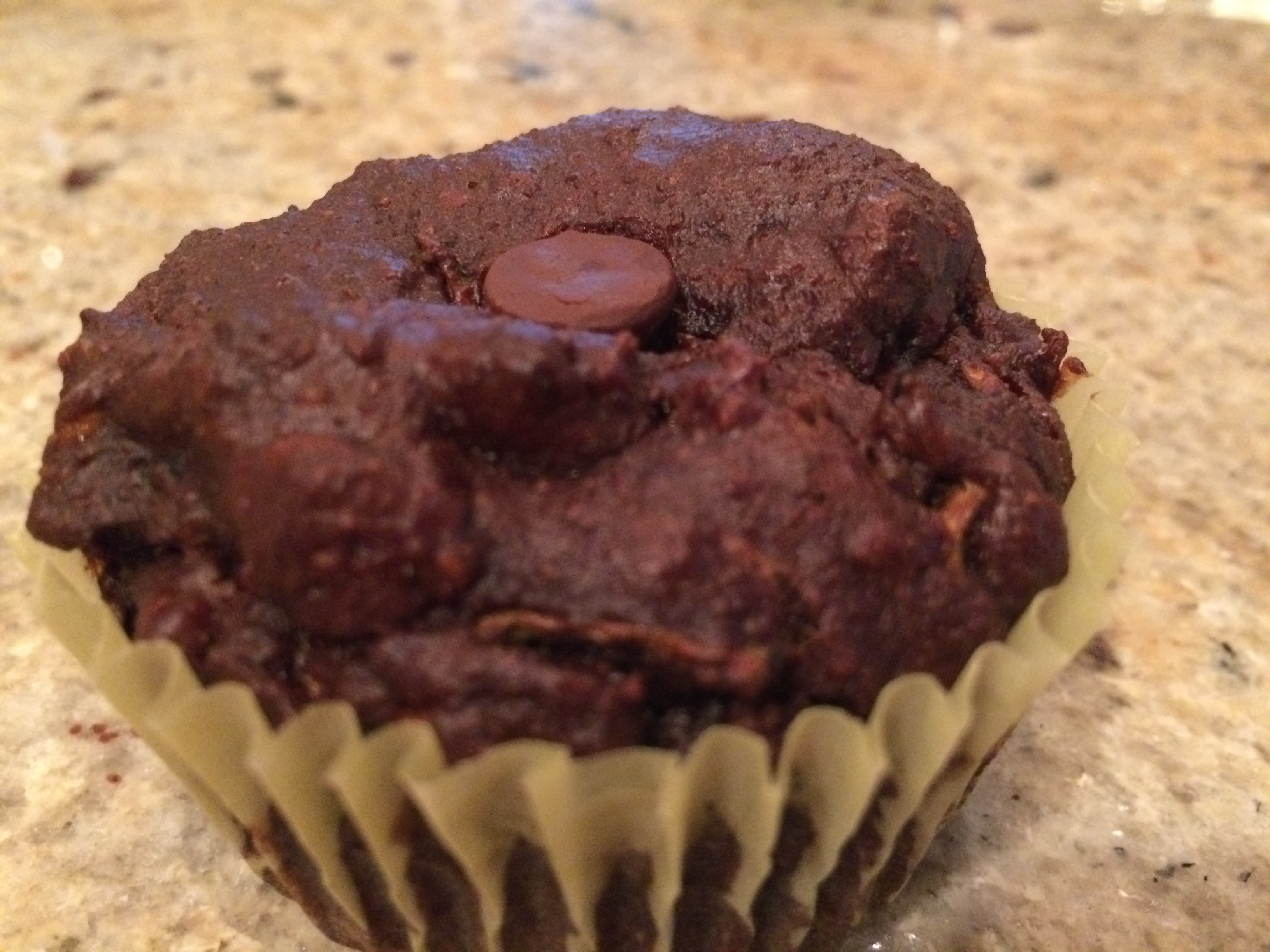 Flourless Double Chocolate Chip Zucchini Muffins