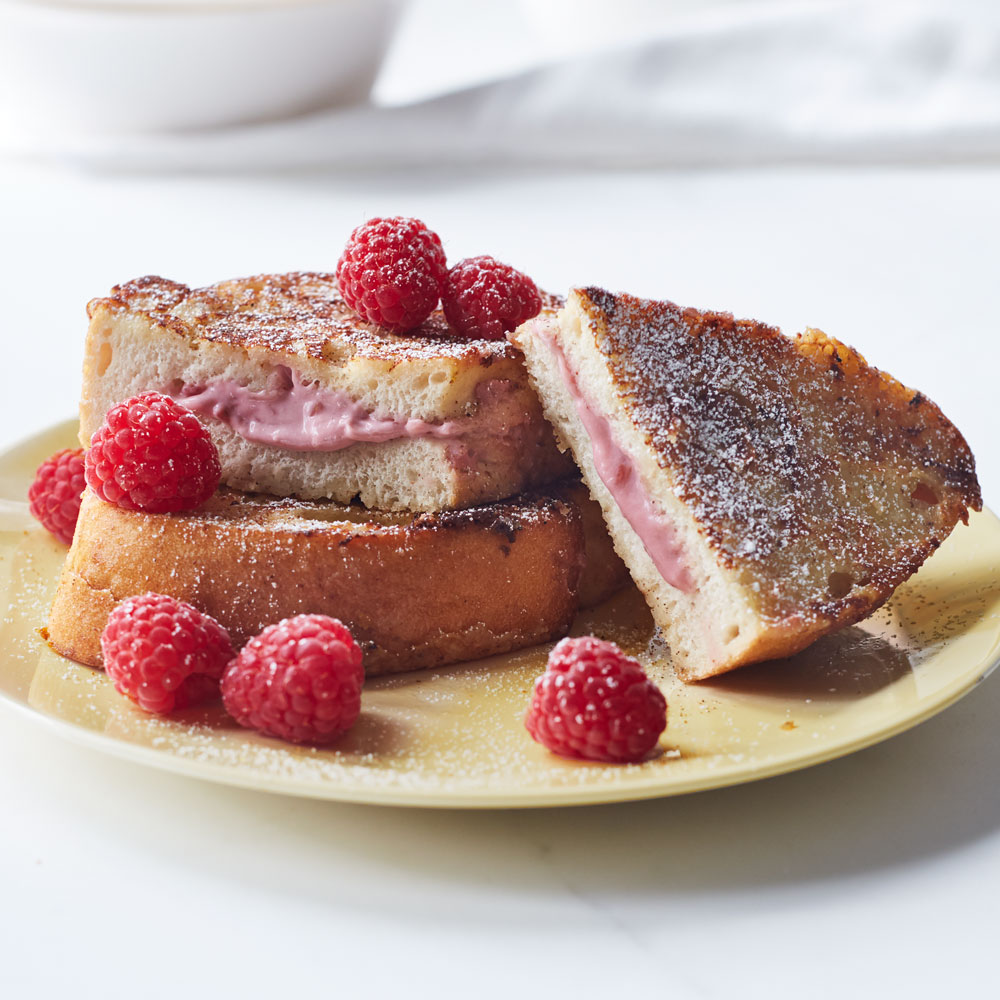 Raspberry Cheesecake Stuffed French Toast Allrecipes Magazine