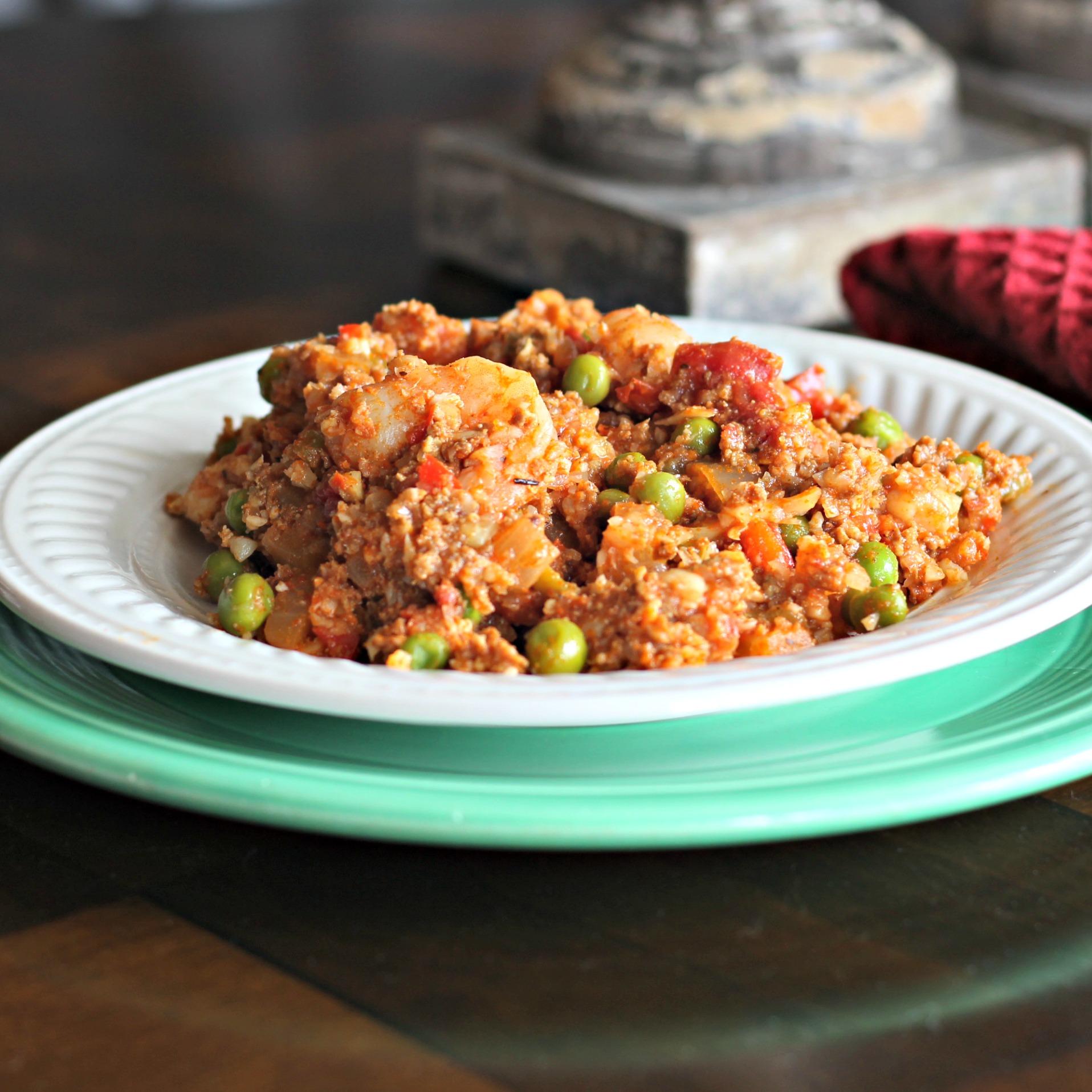 Mexican Paella with Cauliflower Rice duboo