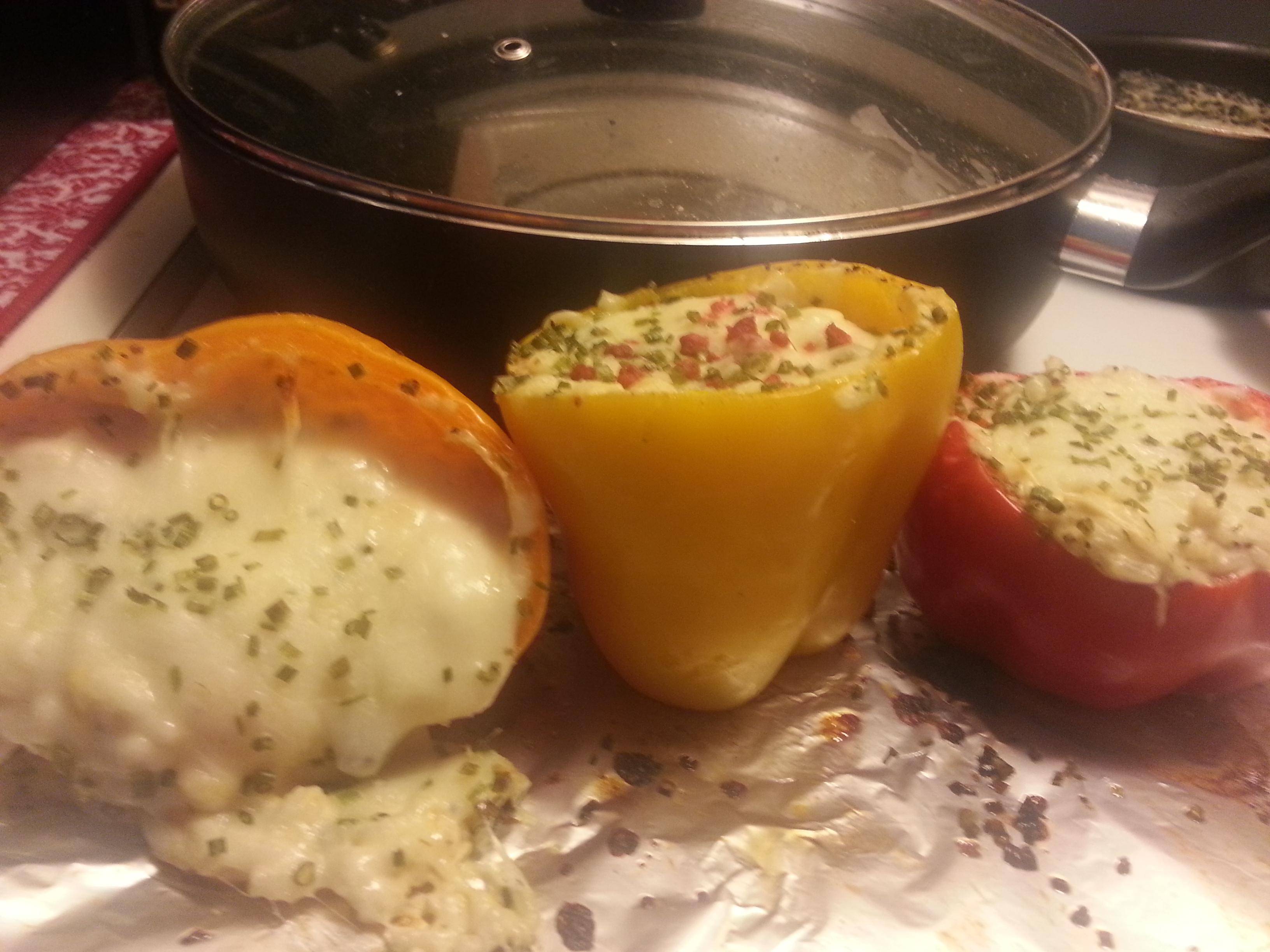 Dila's Chicken-Stuffed Peppers