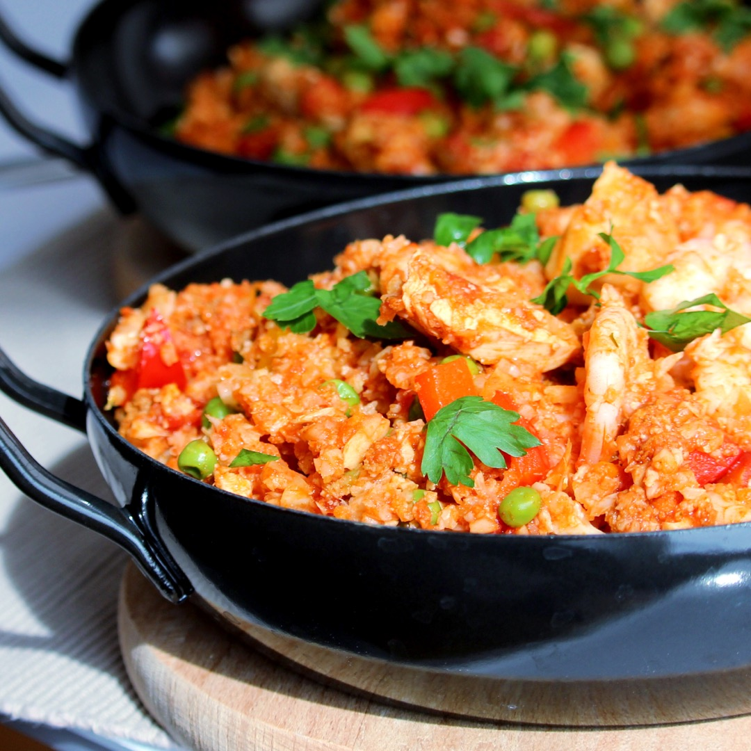 Mexican Paella with Cauliflower Rice