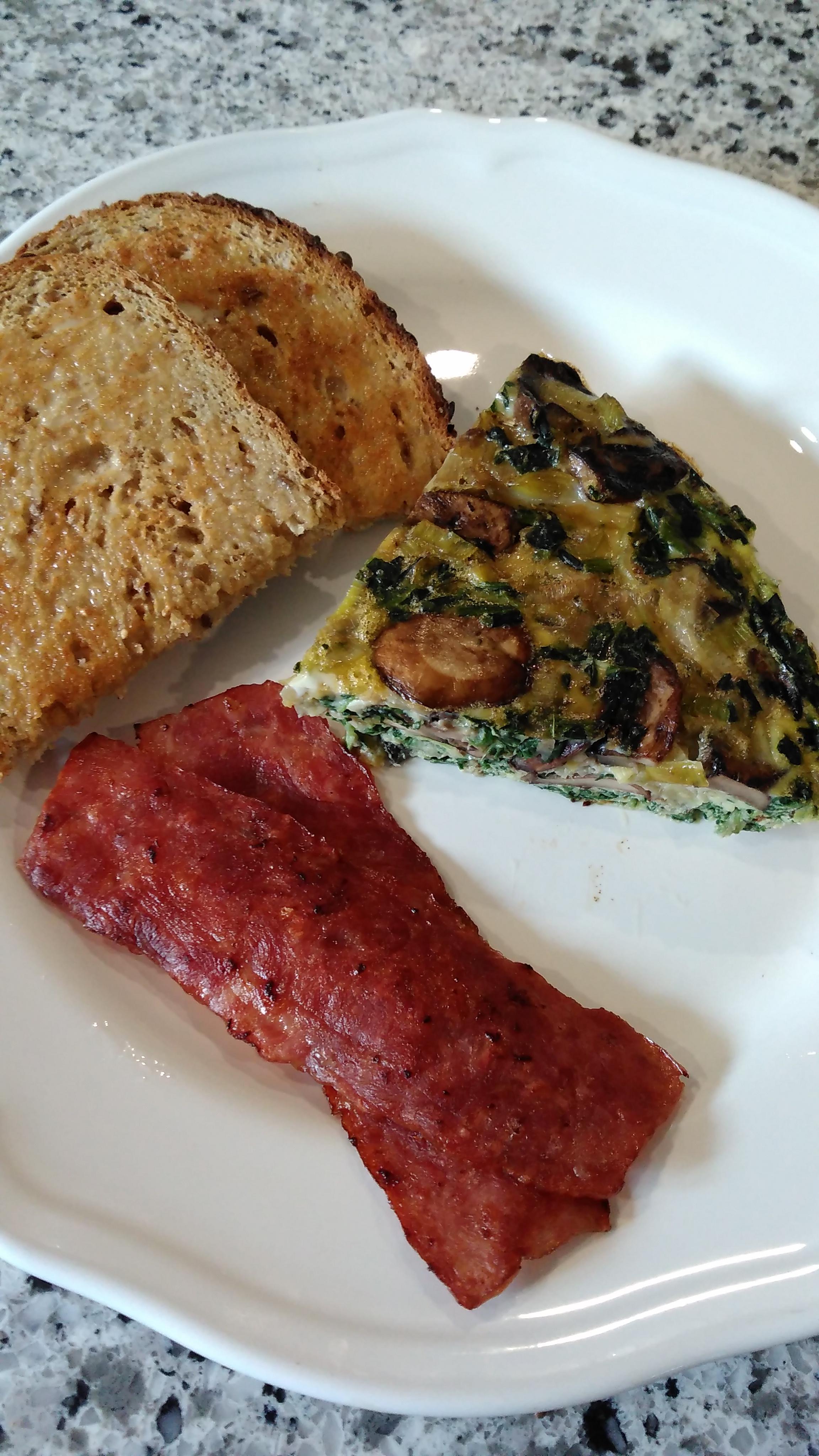 Spinach and Mushroom Frittata Bren