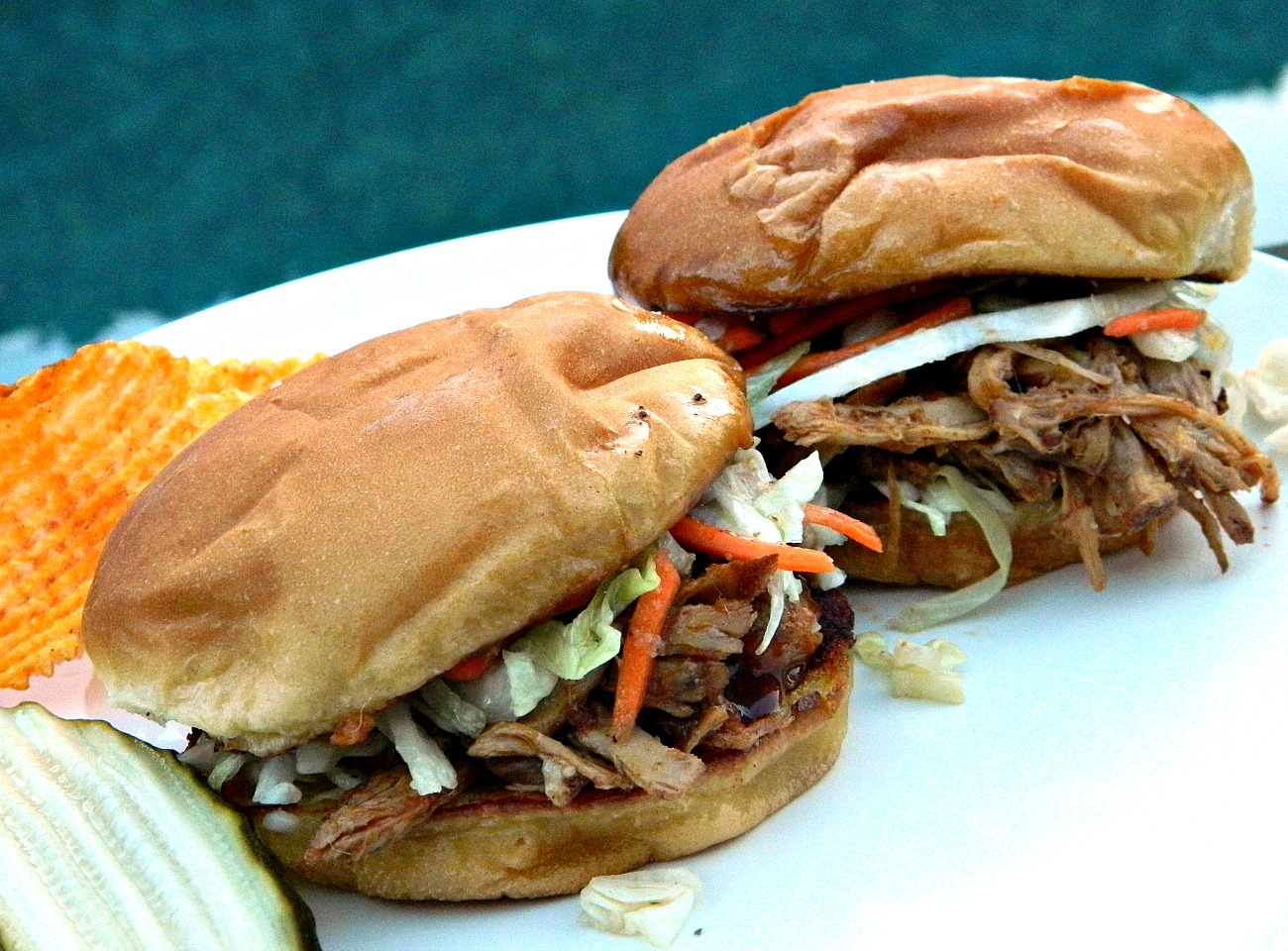Barbecued Pulled Pork with Sweet & Sour Slaw Marianne