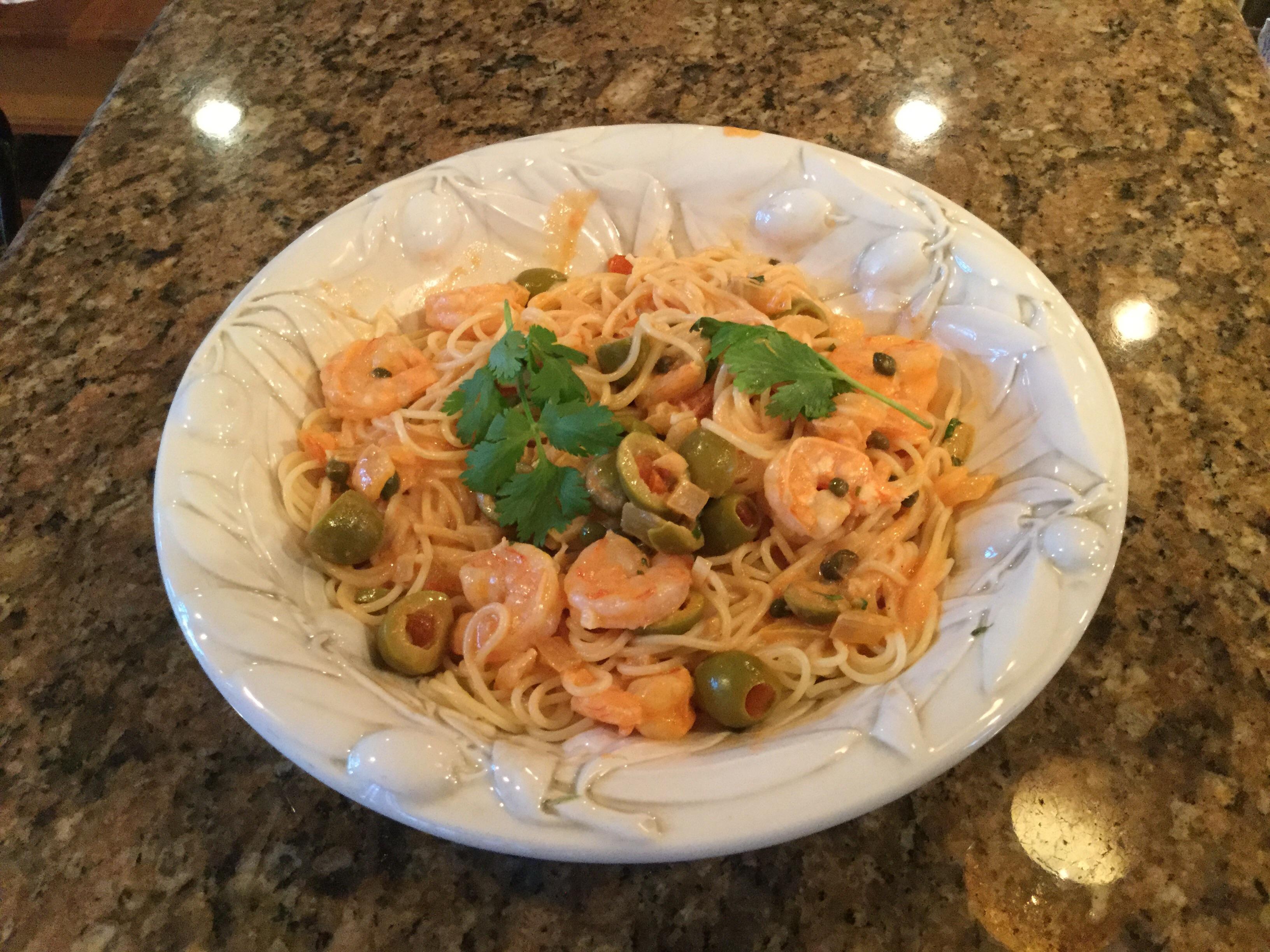 Shrimp Scampi Pasta with White Wine Sauce Matt Man Terps