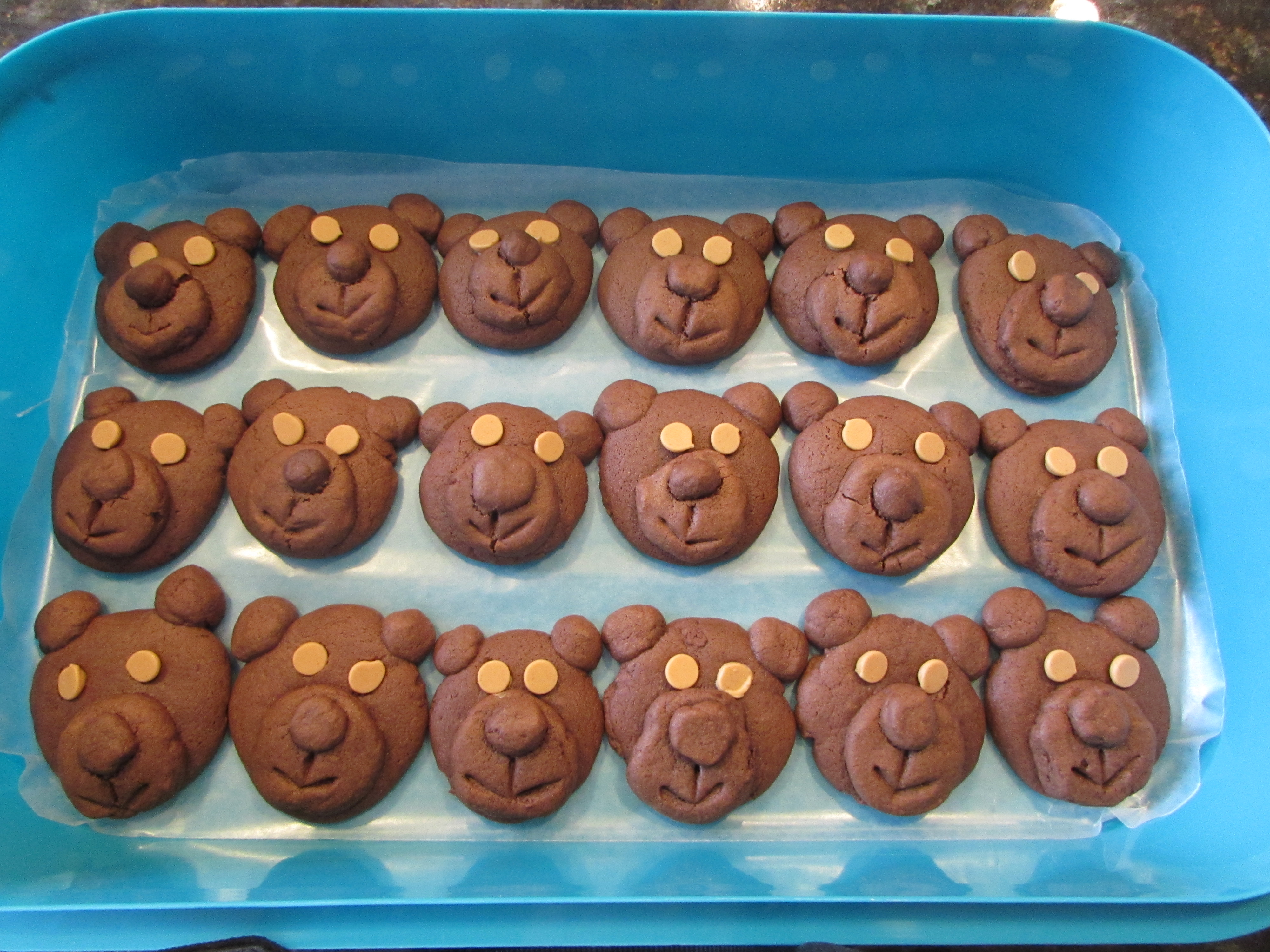 Chocolate Teddy Bear Cookies whistletoes