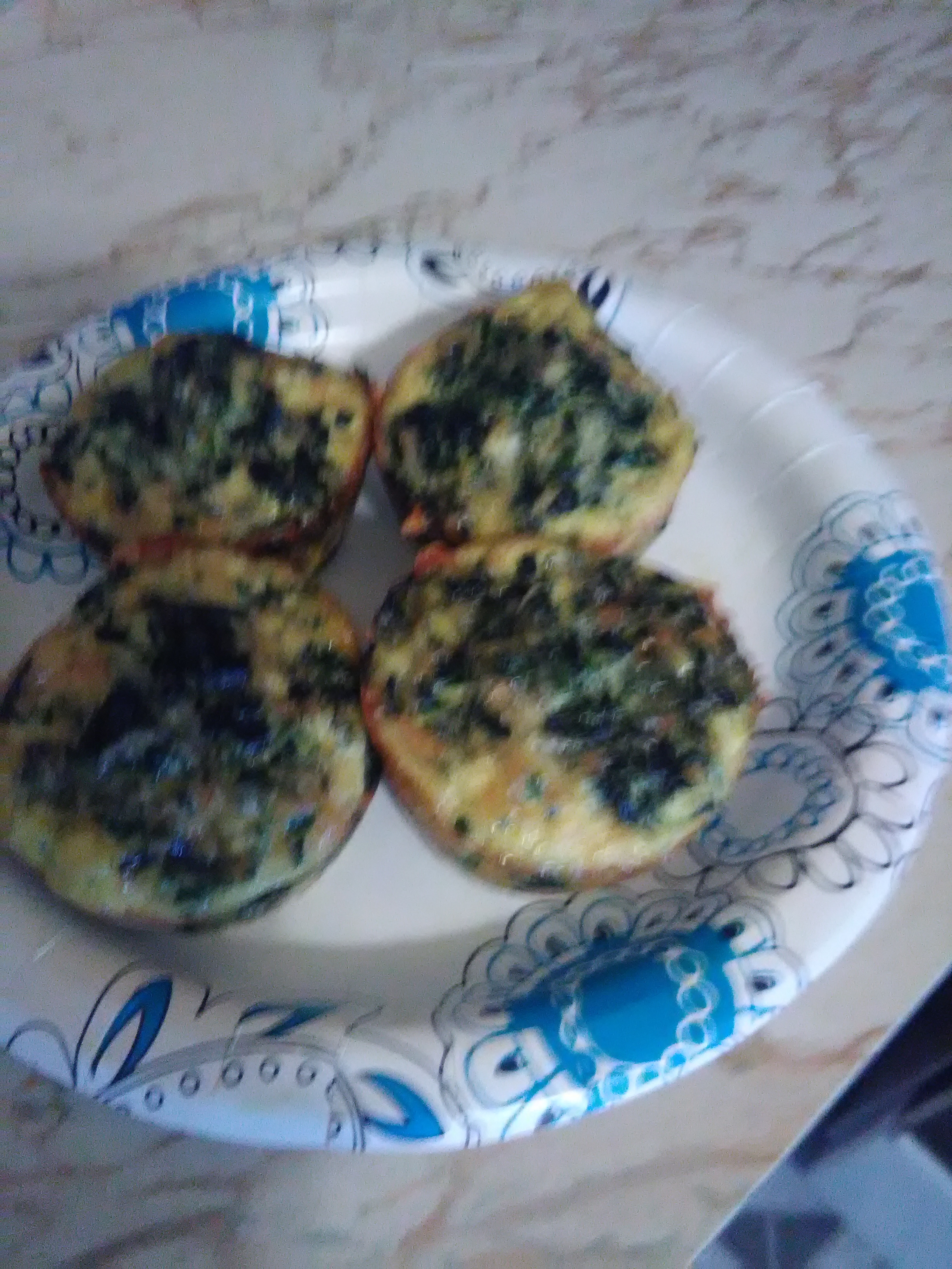 Crustless Spinach Quiche dawnsmilesbright