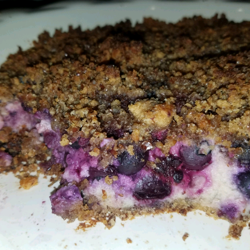 Blueberry Pie with Flax and Almonds