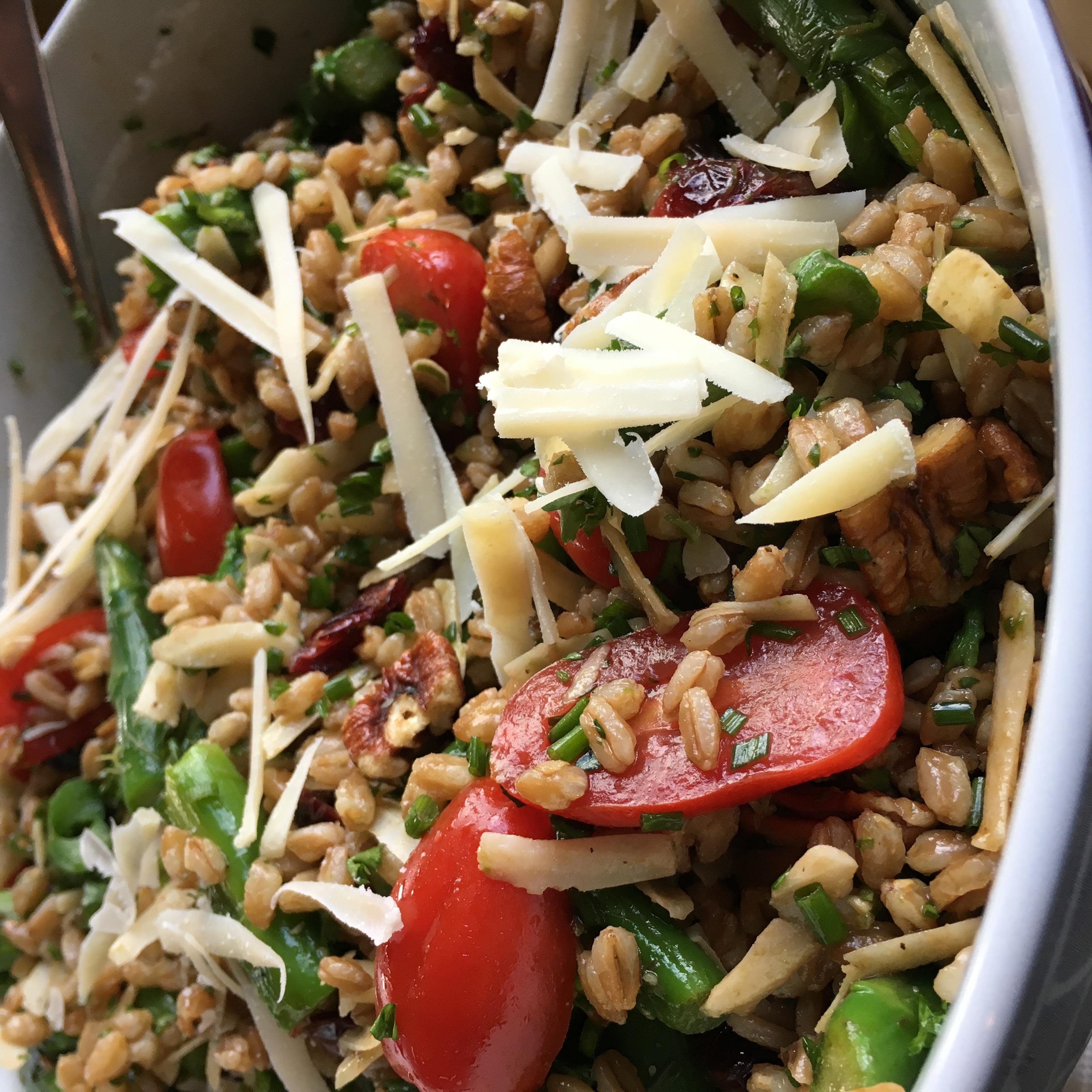 Farro Salad with Asparagus and Parmesan Nanda