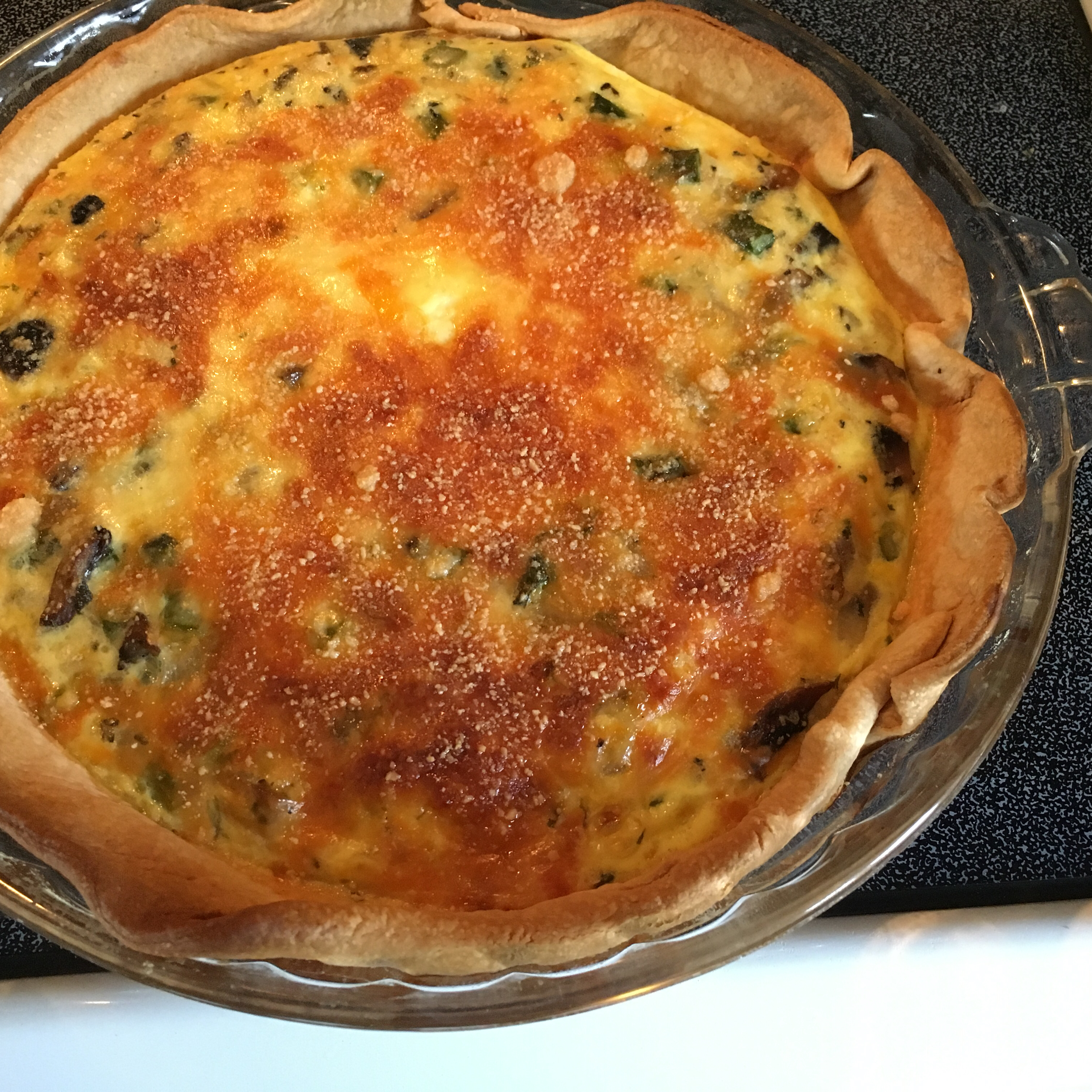 Asparagus and Mushroom Quiche