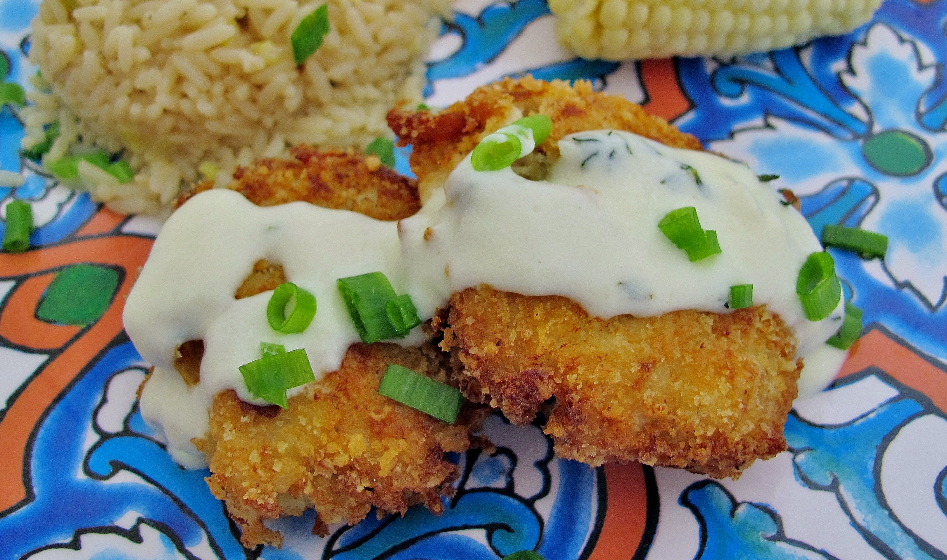 Crispy Chicken Croquettes with Garlic Butter Sauce