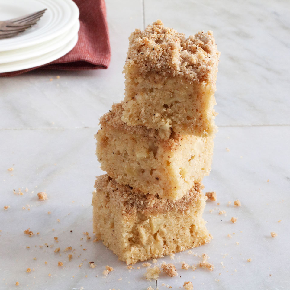 Have your coffee cake and eat it too with this easy gluten-free recipe that tastes just like the real thing. The addition of yogurt and diced apple makes for a wonderfully moist cake with a crumbly topping, perfect for brunch or for a coffee-break treat.