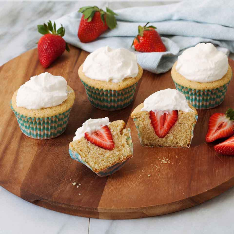 Strawberry Shortcake Cupcakes EatingWell Test Kitchen