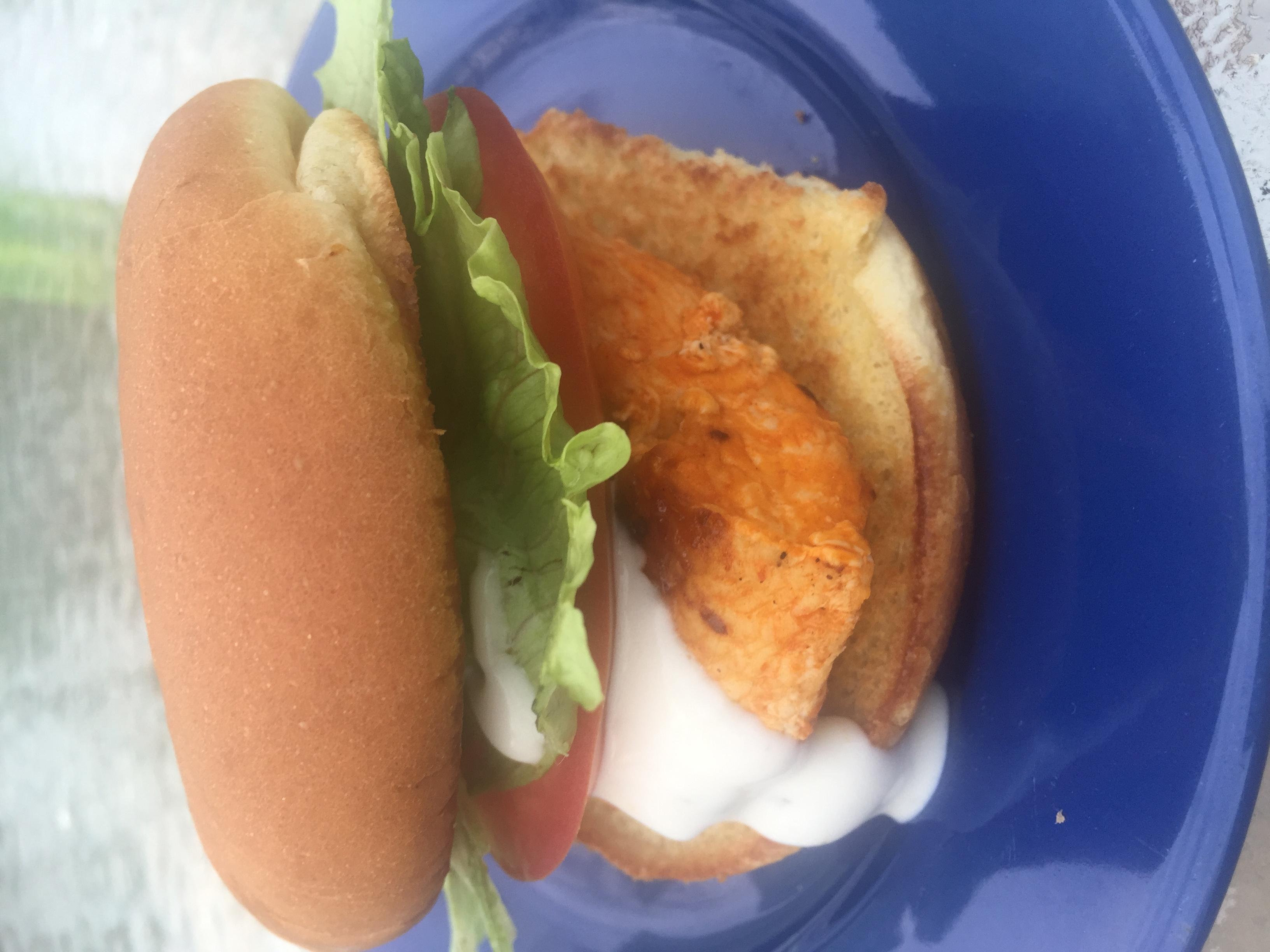 Spicy Buffalo Chicken Sandwich MommaBean3