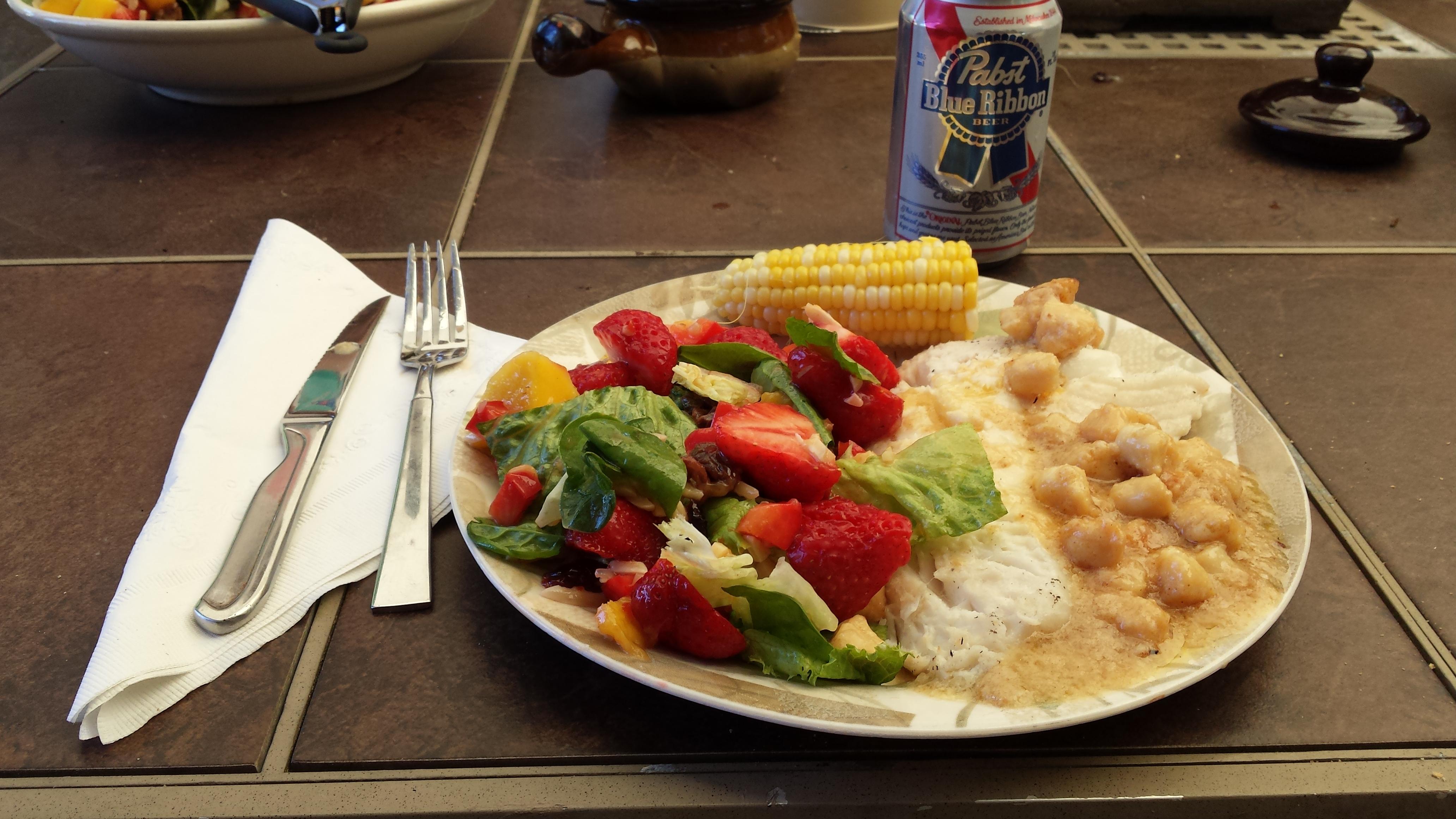 Strawberry-Mango Mesclun Salad James