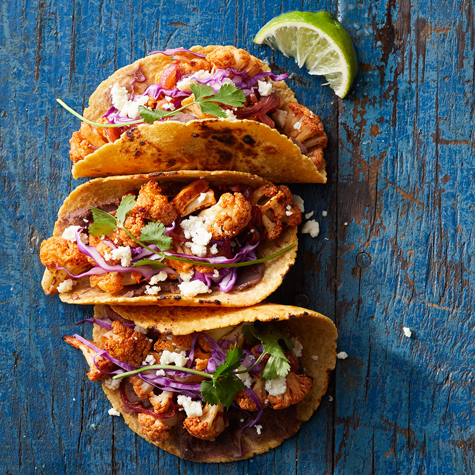 Chipotle-Lime Cauliflower Tacos EatingWell Test Kitchen