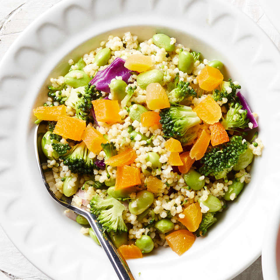 Broccoli, Edamame & Cabbage Millet Salad Carolyn Malcoun