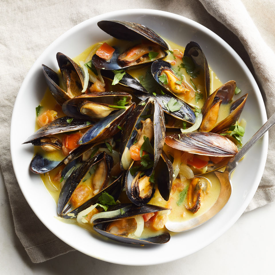 Coconut-Curry Mussels Breana Killeen