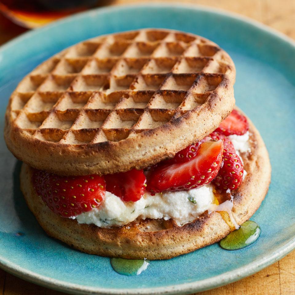 Strawberry-Ricotta Waffle Sandwich Carolyn Malcoun