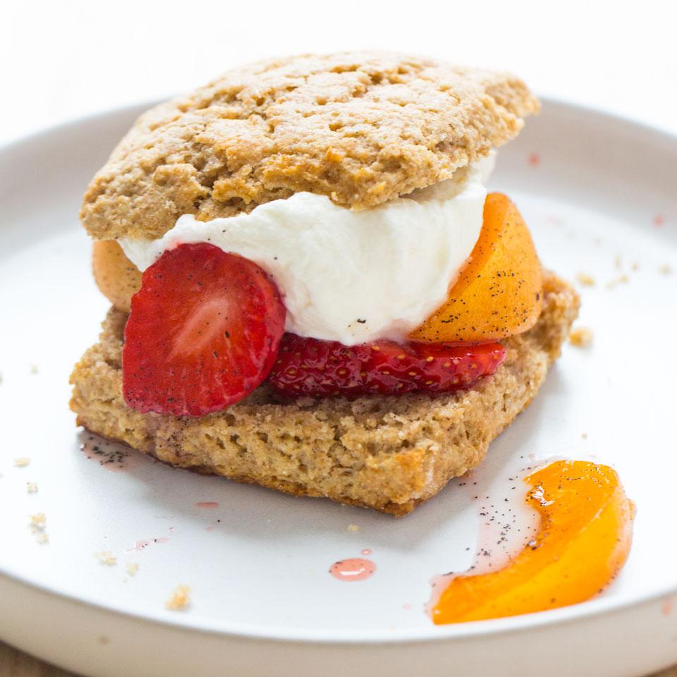 Apricot-Strawberry Buckwheat Shortcakes