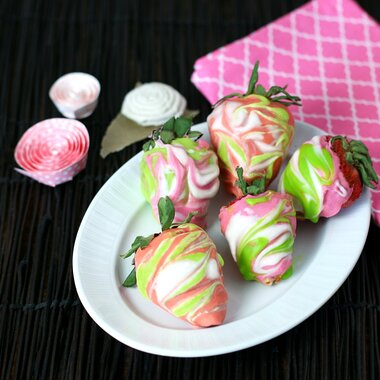 Marbled Chocolate Covered Strawberries Recipe Allrecipes
