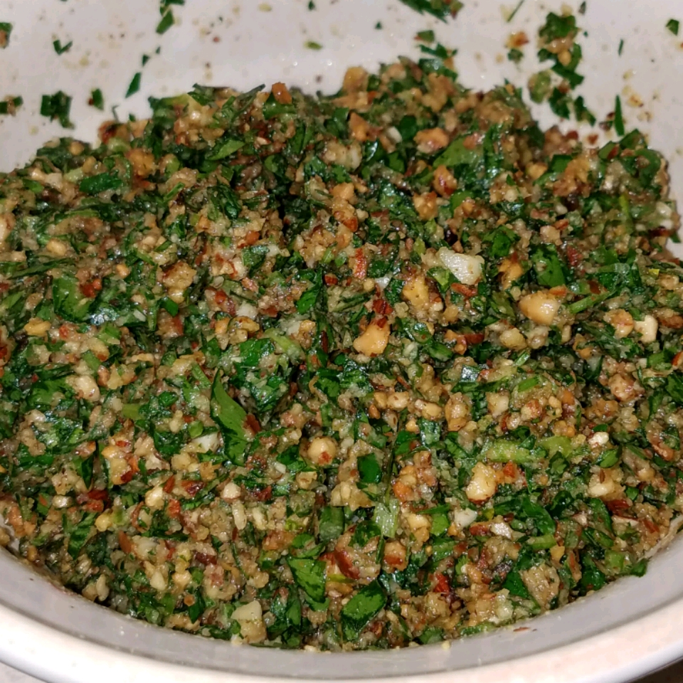 Almond and Parsley Salsa Verde Hot Mess#2