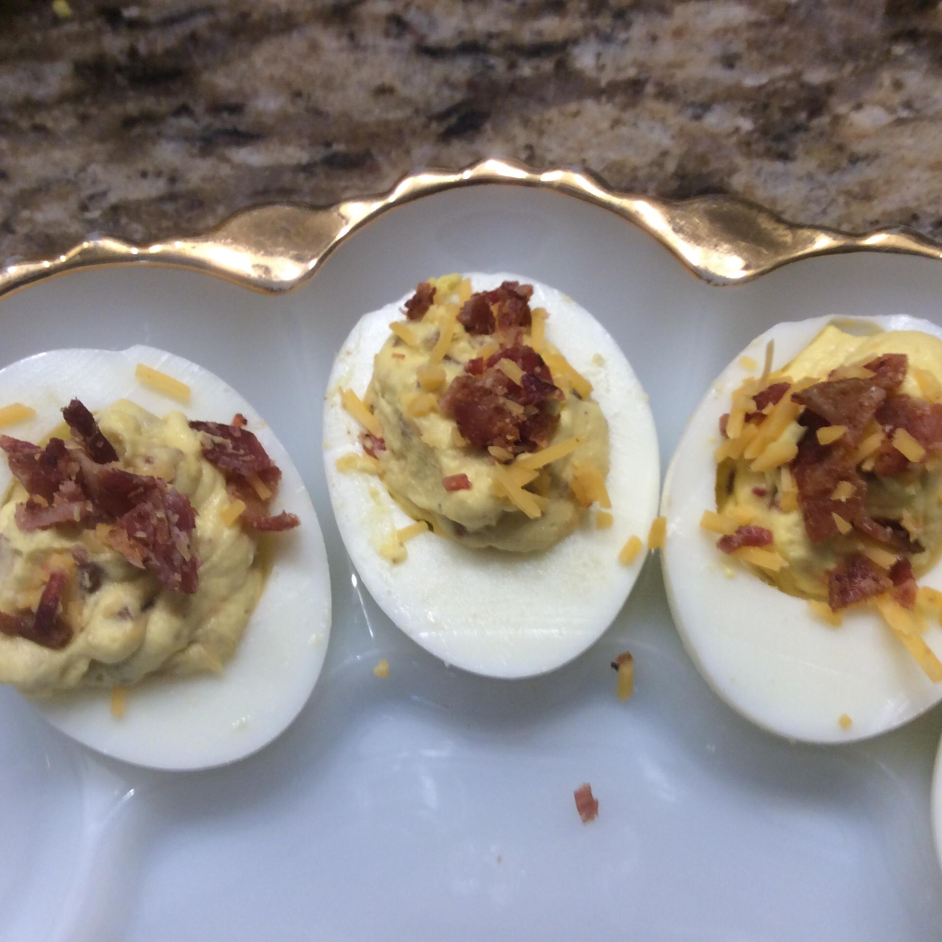 Bacon Cheddar Deviled Eggs