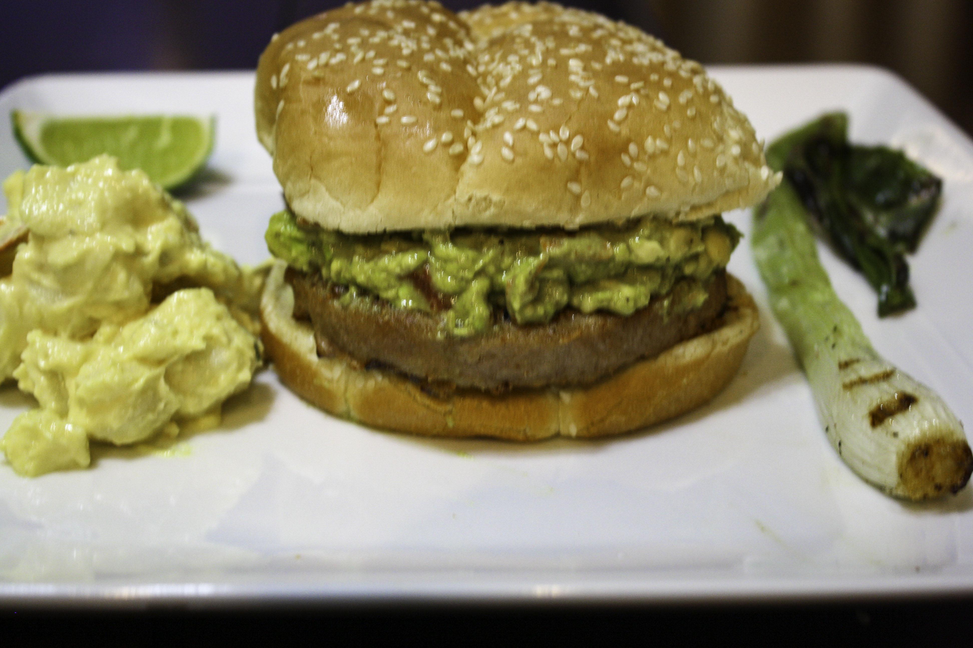Guacamole Turkey Burger Janet Henderson