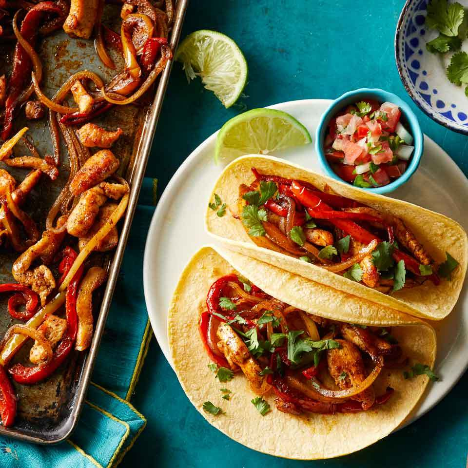 Sheet-Pan Chicken Fajitas Carolyn Casner