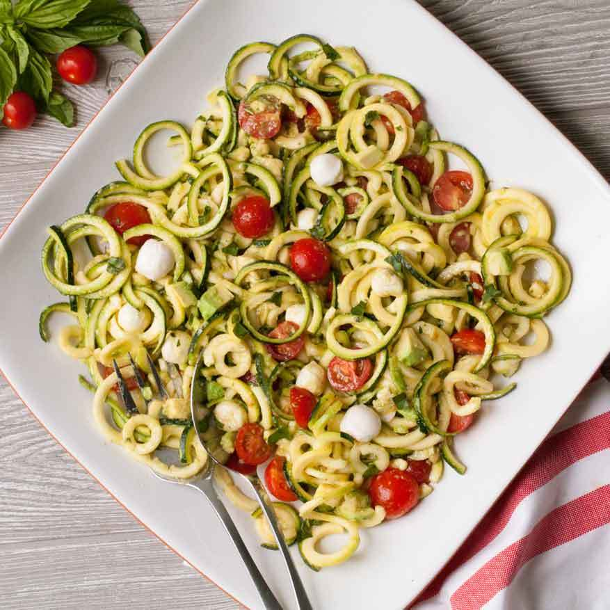 Tomato-Basil Zoodle Salad Trusted Brands