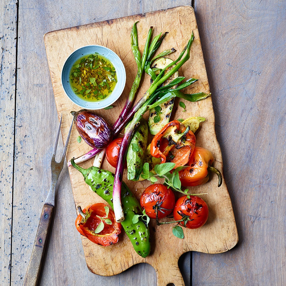 Grilled Summer Vegetables with Shallot-Herb Vinaigrette Trusted Brands