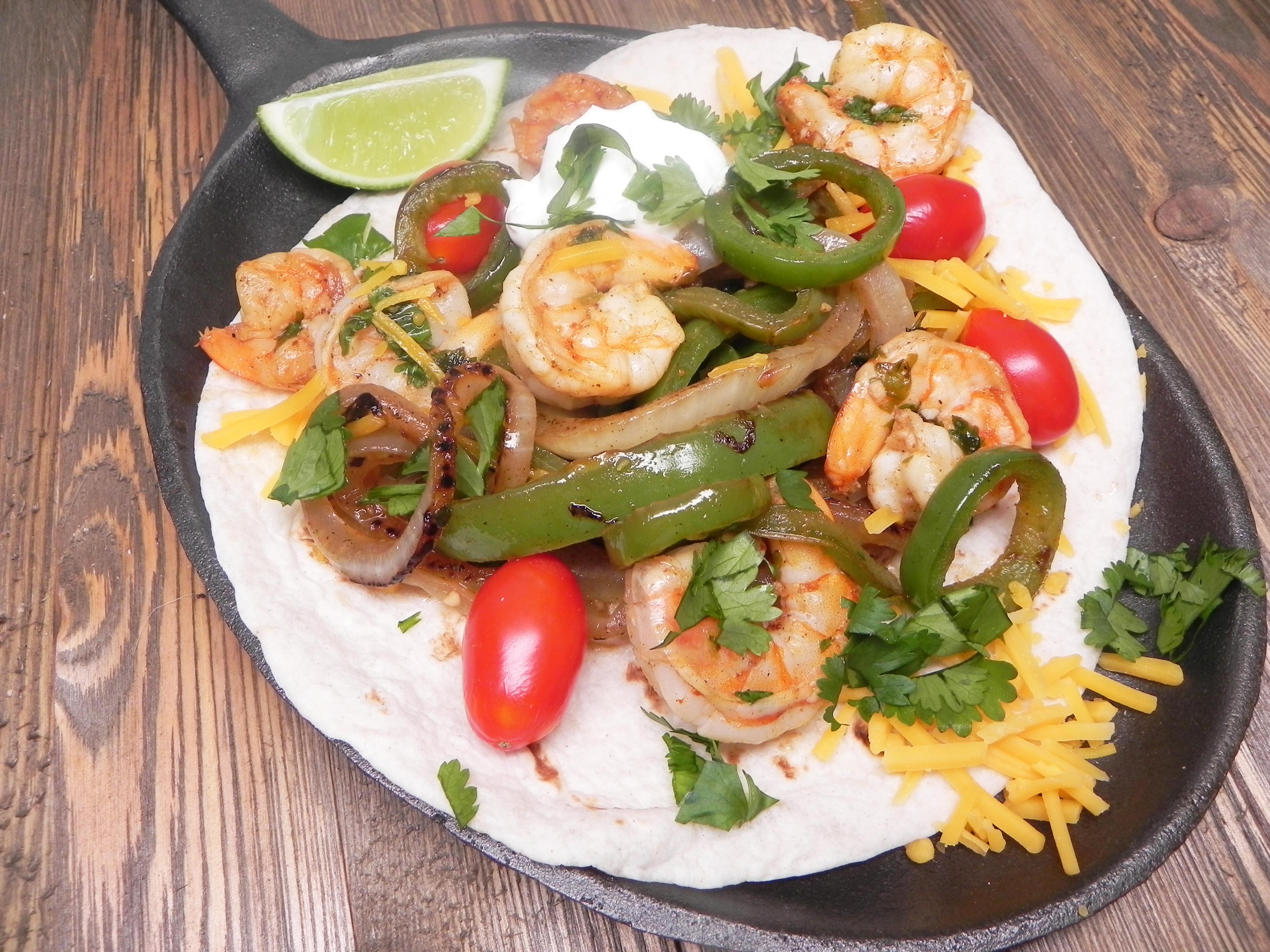Chili-Lime Shrimp Fajitas