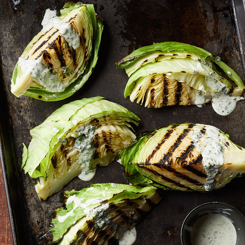 Charred Cabbage with Buttermilk-Herb Dressing Allrecipes Trusted Brands
